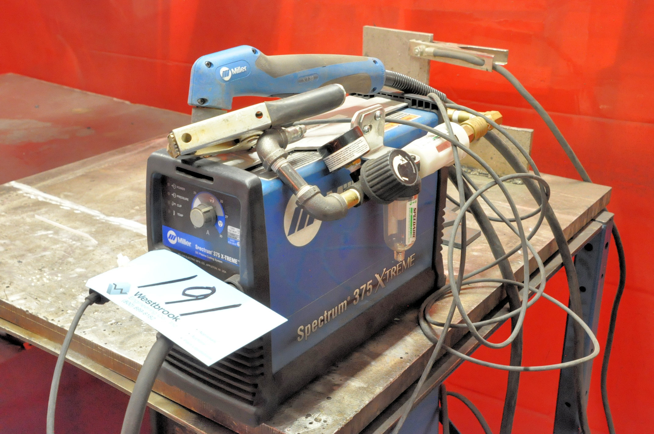 Miller Spectrum 375 X-Treme, Hand Held DC Plasma Cutting System with 110 Volt Adapter