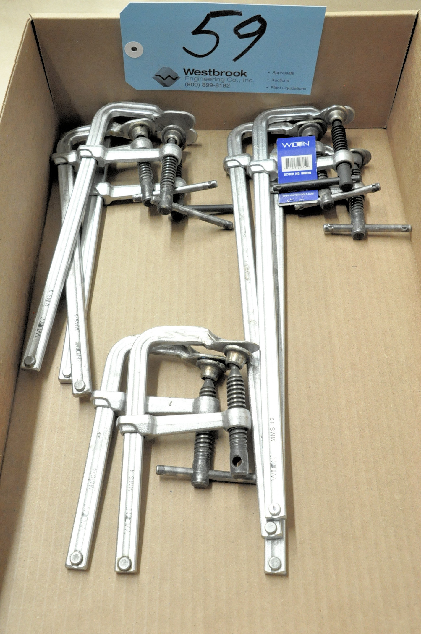 "Lot-(3) Wilton 12"", (3) 8"" and (2) 4"" F-Clamps in (1) Box"