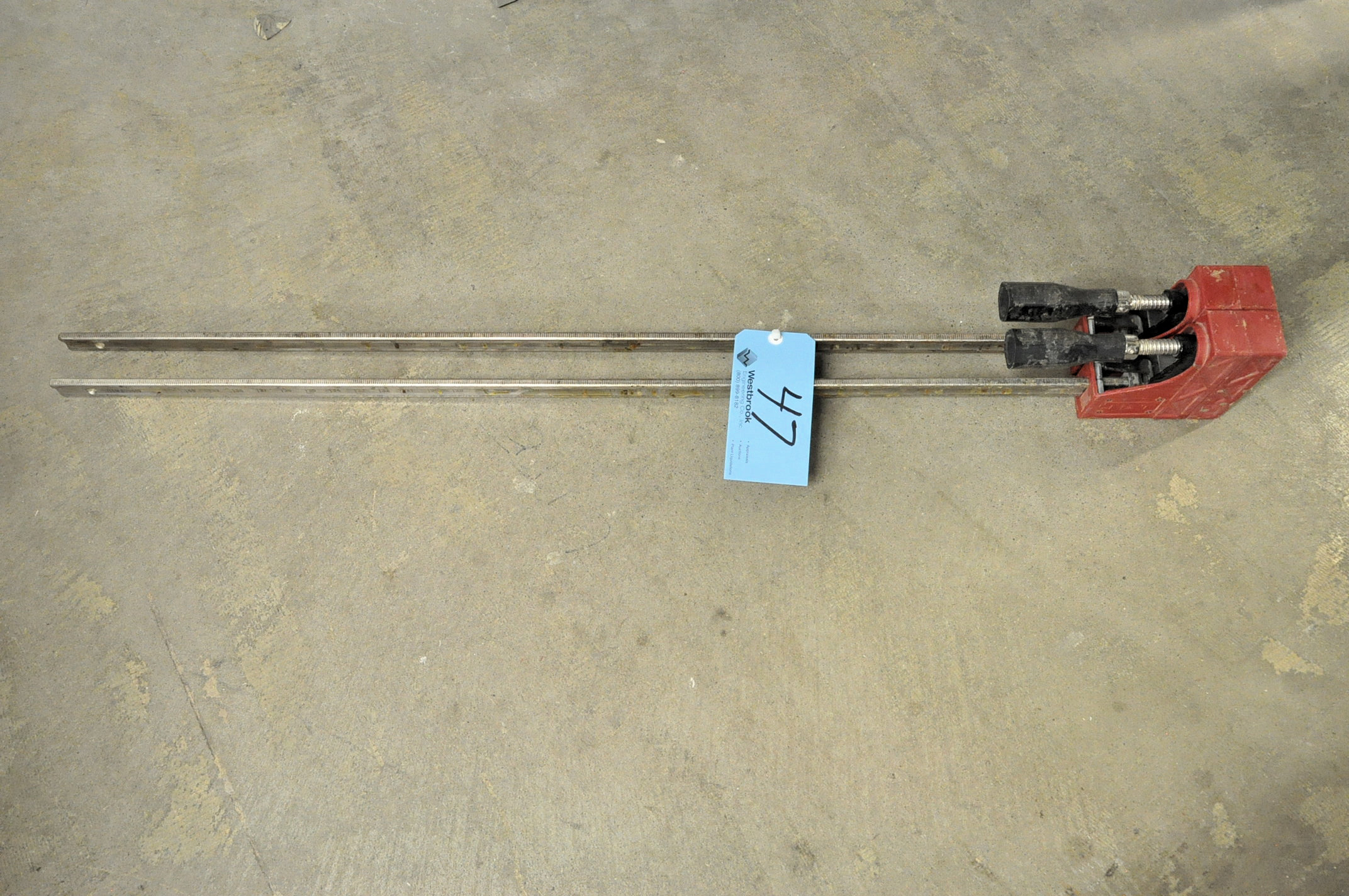 """Lot-(2) Jet No. 70440, 40"""" Parallel Clamps Under (1) Table"""