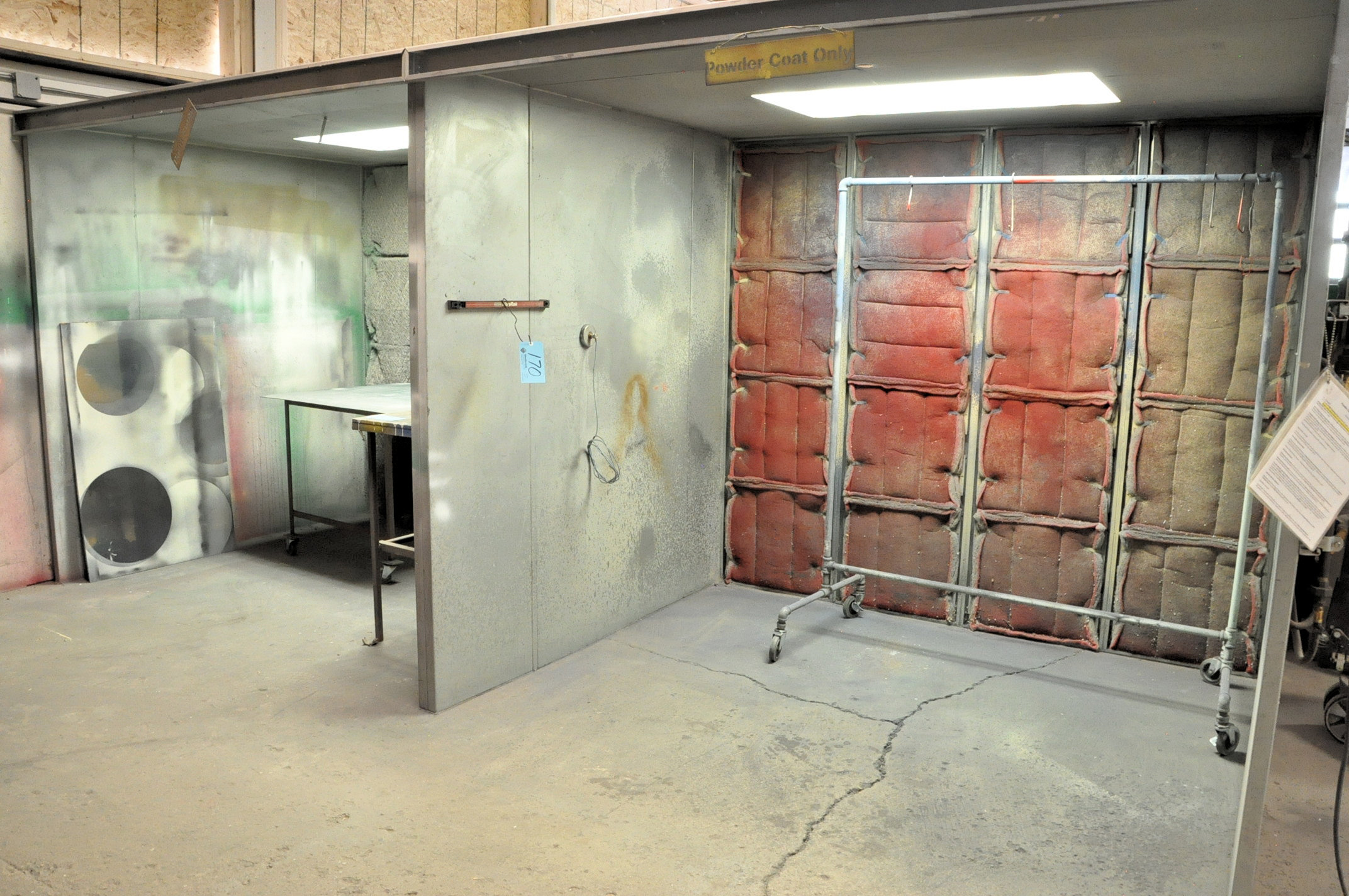 Eastwood Powder Coat Booth with Booth Mounted Filtered Exhaust Blower Air System, 8' x 7' x 6.5' - Image 2 of 3