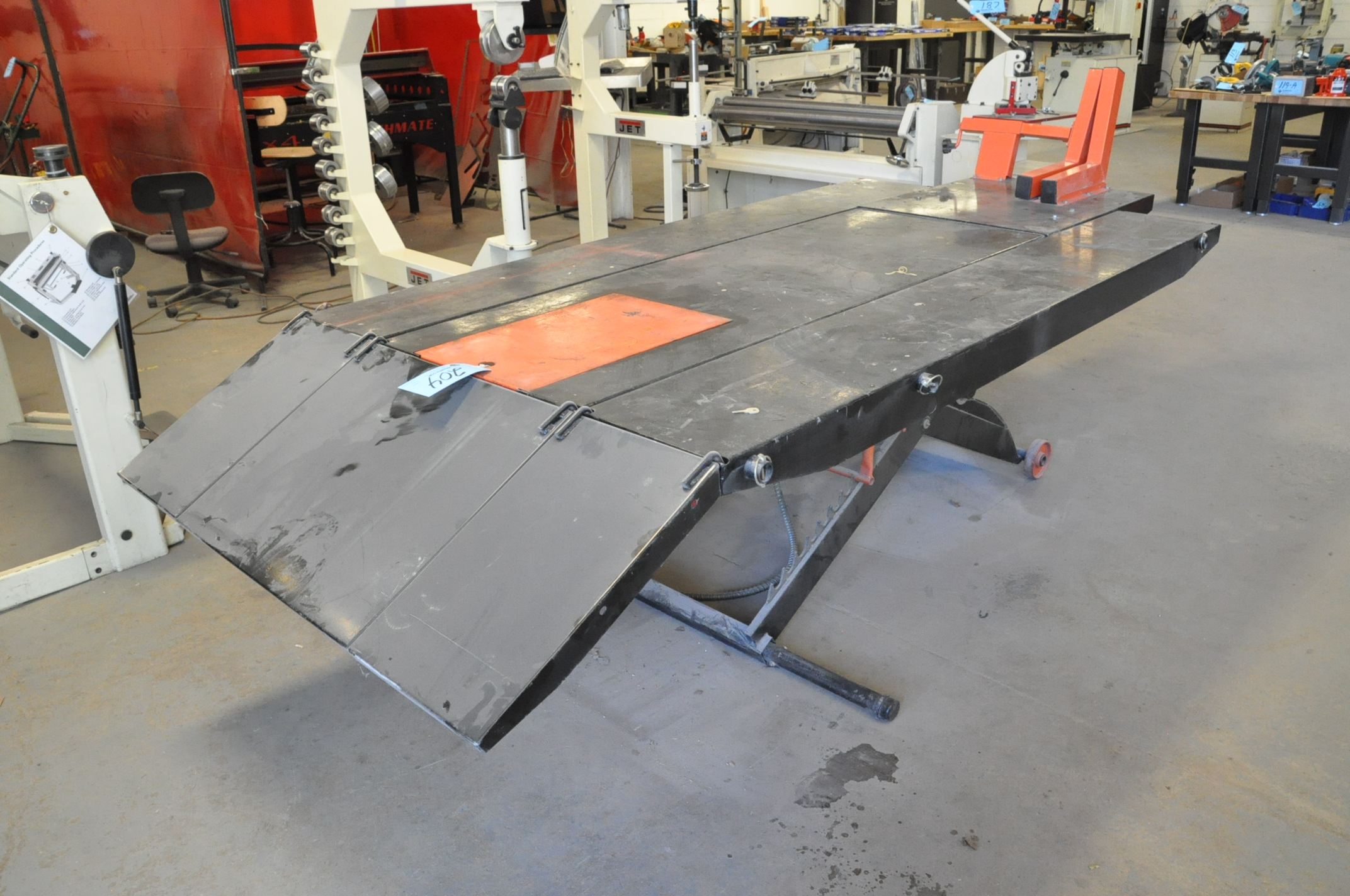 """No Name Model JMML-1000, Motorcycle Lift Table, S/n N/a, Table Size: 48"""" x 96"""", 1,500 LB Capacity"""