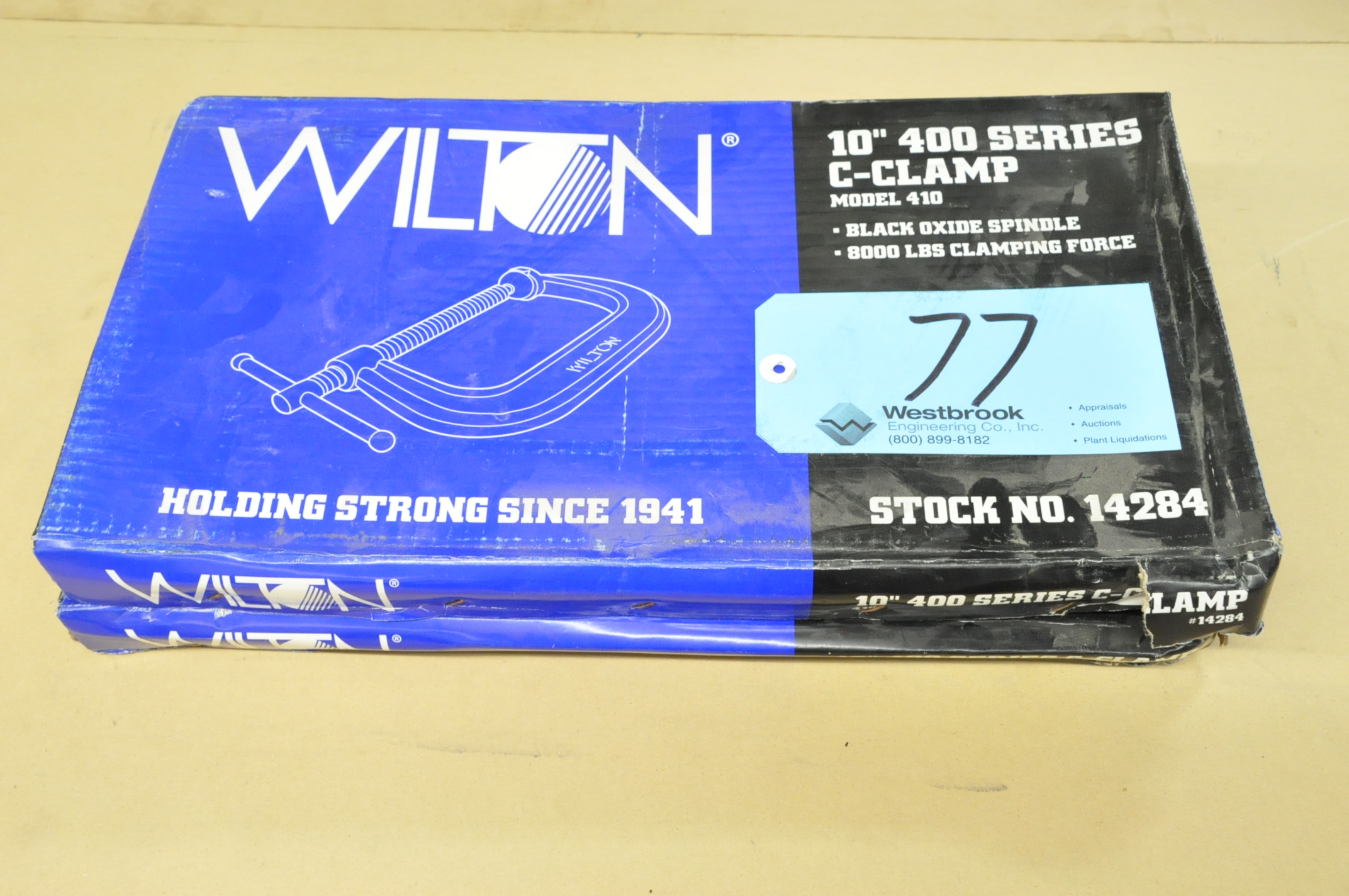 """Lot-(2) Wilton No. 410, 10"""" C-Clamps, (Packaged)"""