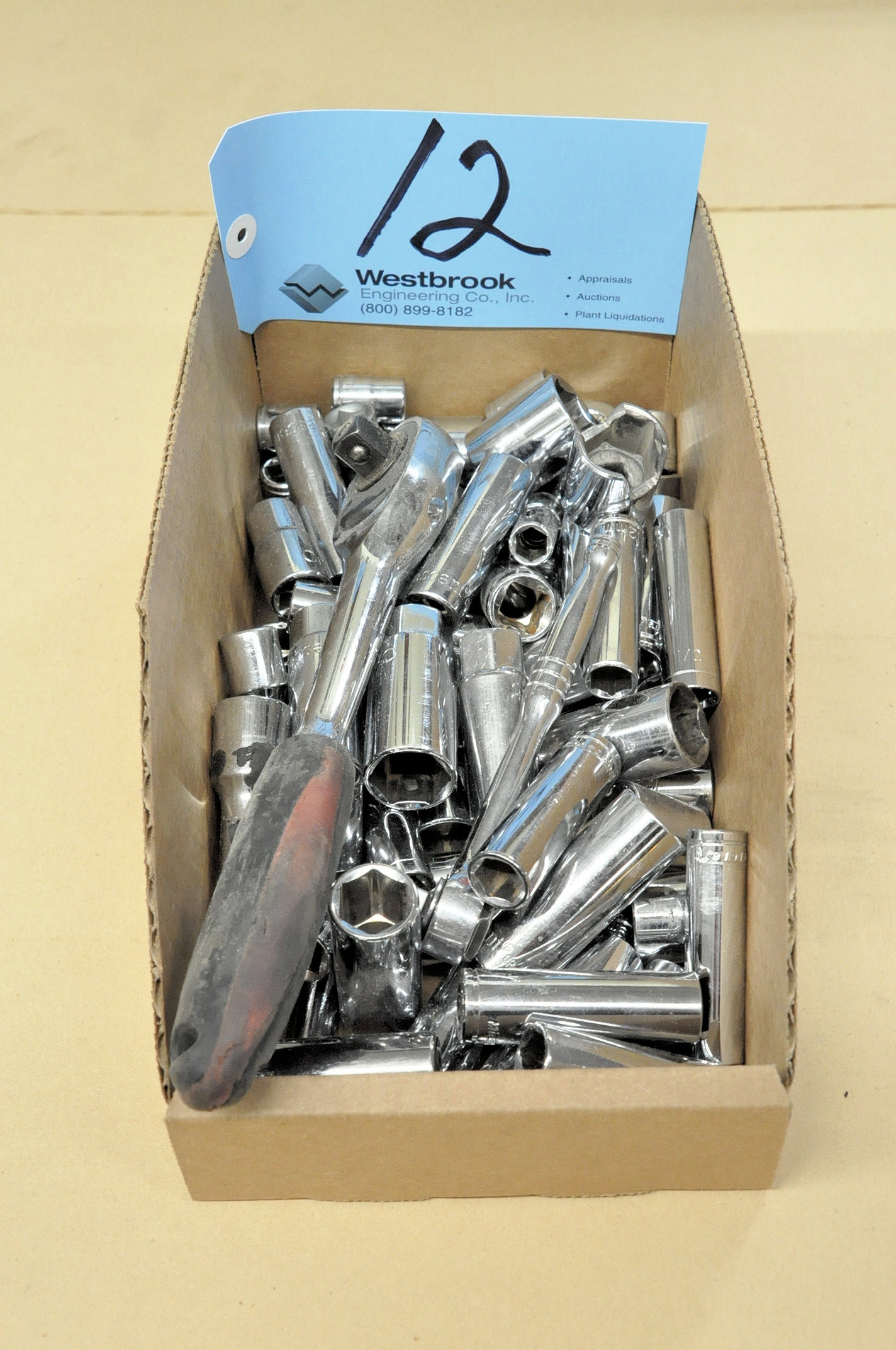 Lot-Various Ratchets and Sockets in (1) Box