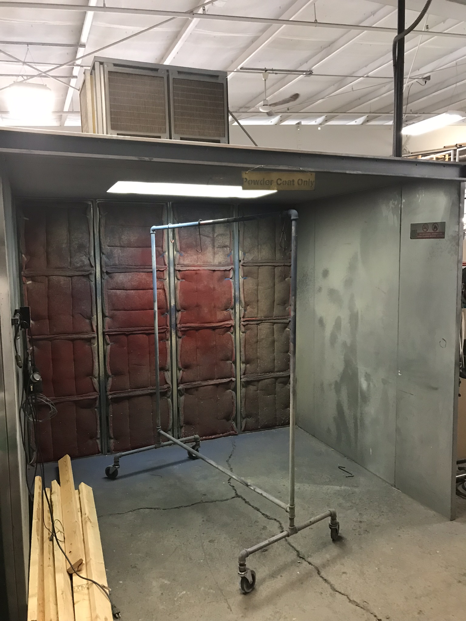 Eastwood Powder Coat Booth with Booth Mounted Filtered Exhaust Blower Air System, 8' x 7' x 6.5'