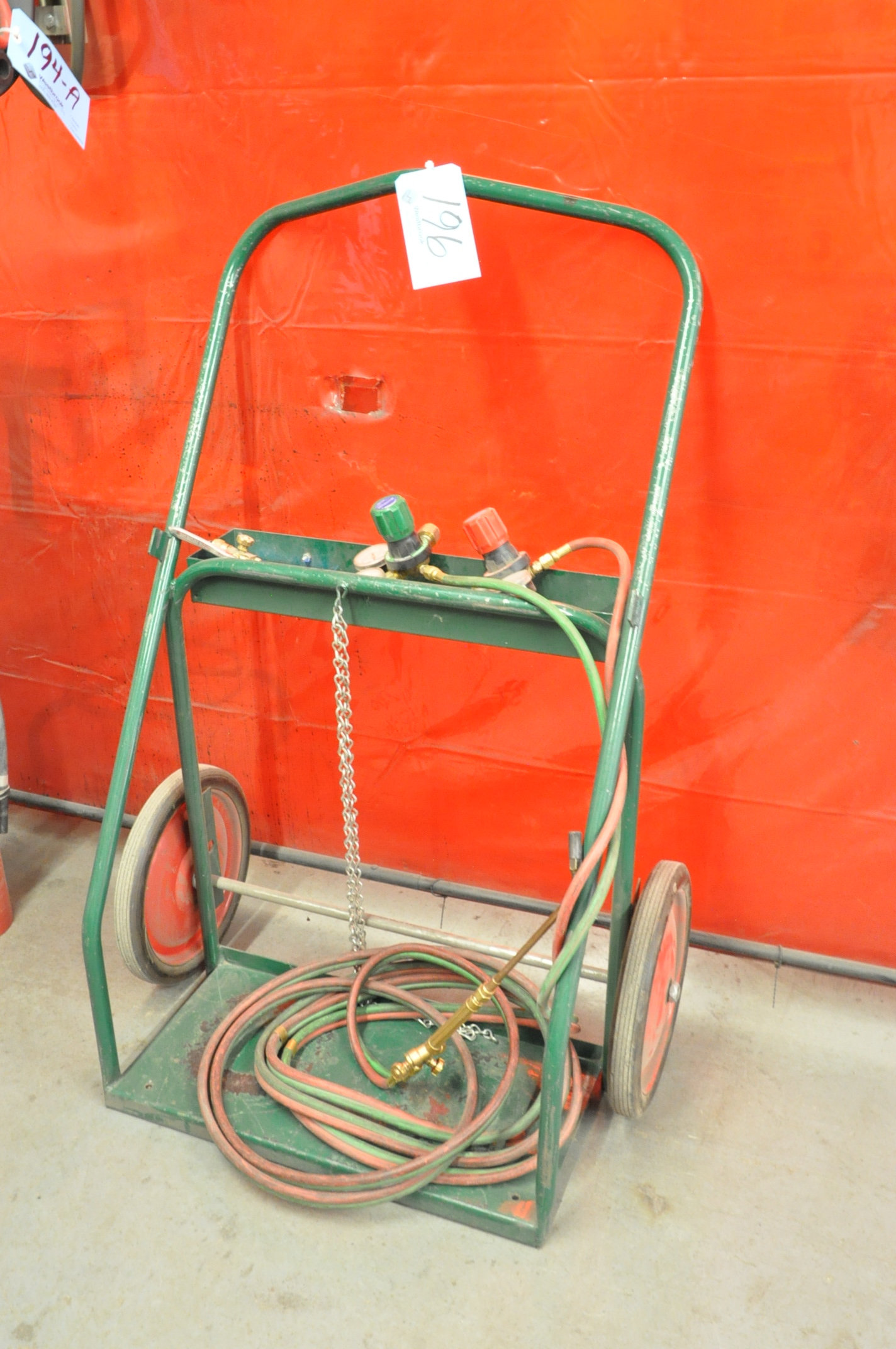 Oxygen/Acetylene Cart with Torch, Hose and Gages