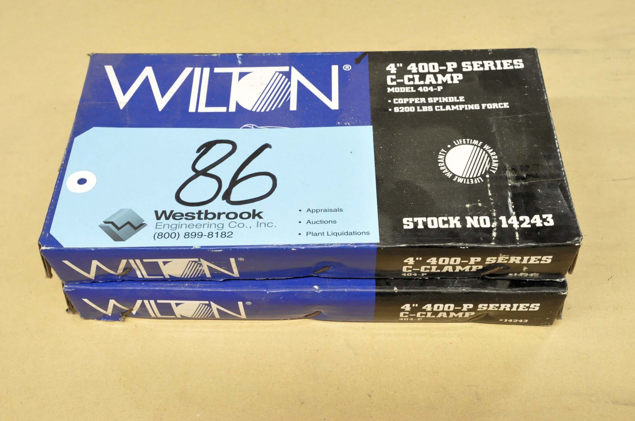 """Lot-(2) Wilton No. 404-P, 4"""" C-Clamps, (Packaged)"""