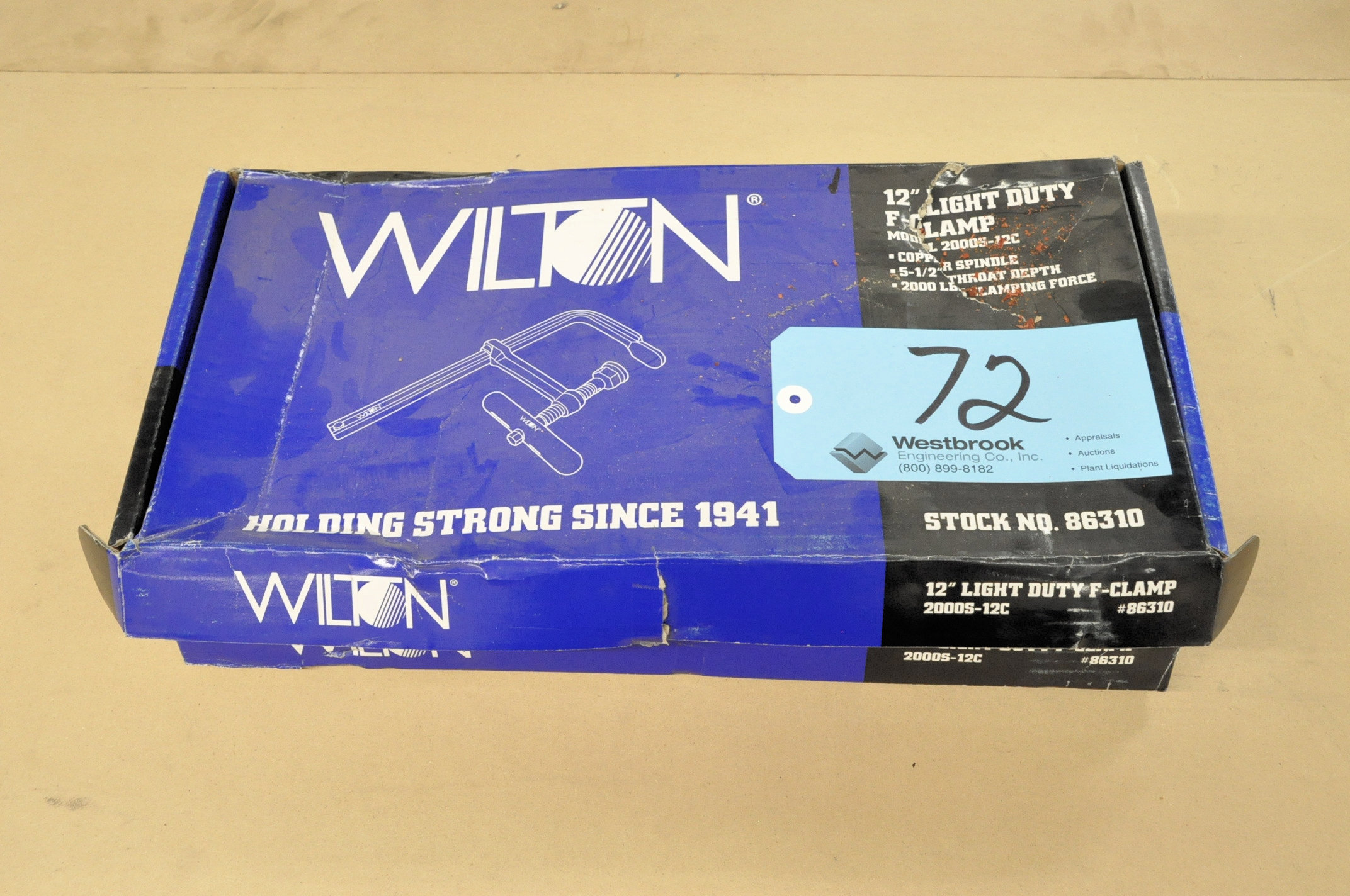 Lot-(2) Wilton No. 2000S-12C, F-Clamps, (Packaged)