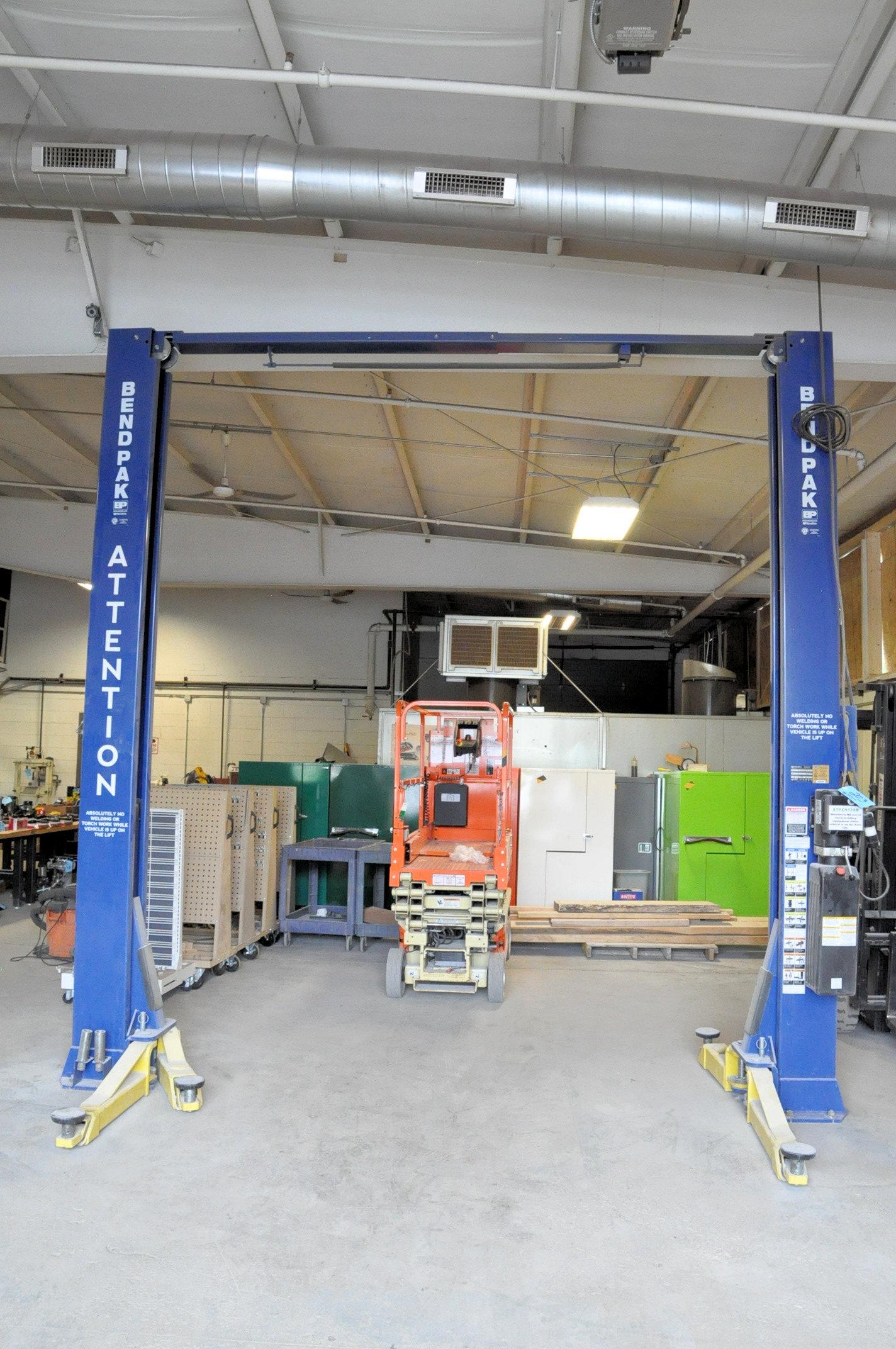 Bendpak Model XPR-10, 10,000-Lbs. Capacity 2-Post Hydraulic Car Lift, 2-HP, 1-PH