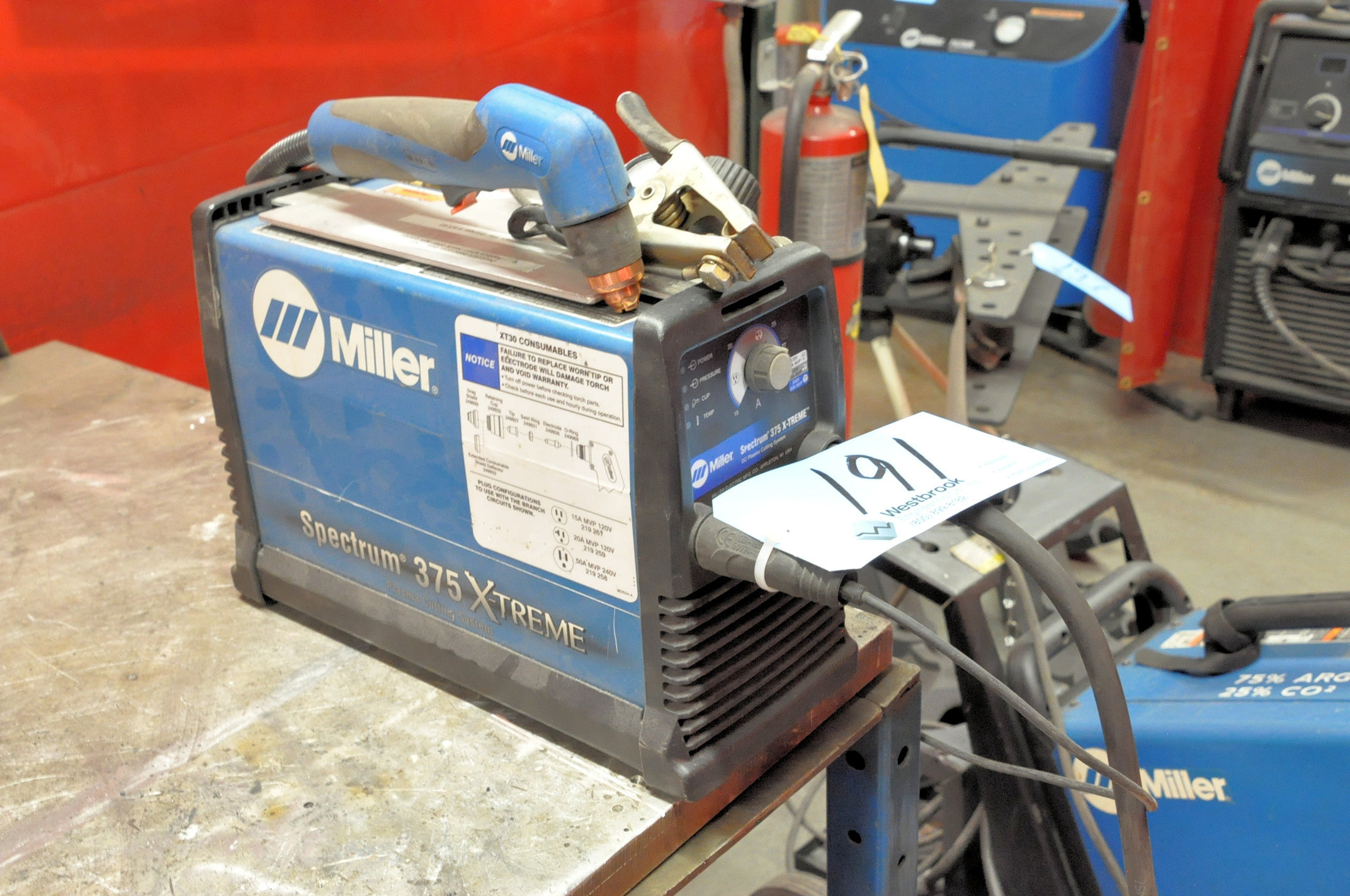 Miller Spectrum 375 X-Treme, Hand Held DC Plasma Cutting System with 110 Volt Adapter - Image 2 of 2