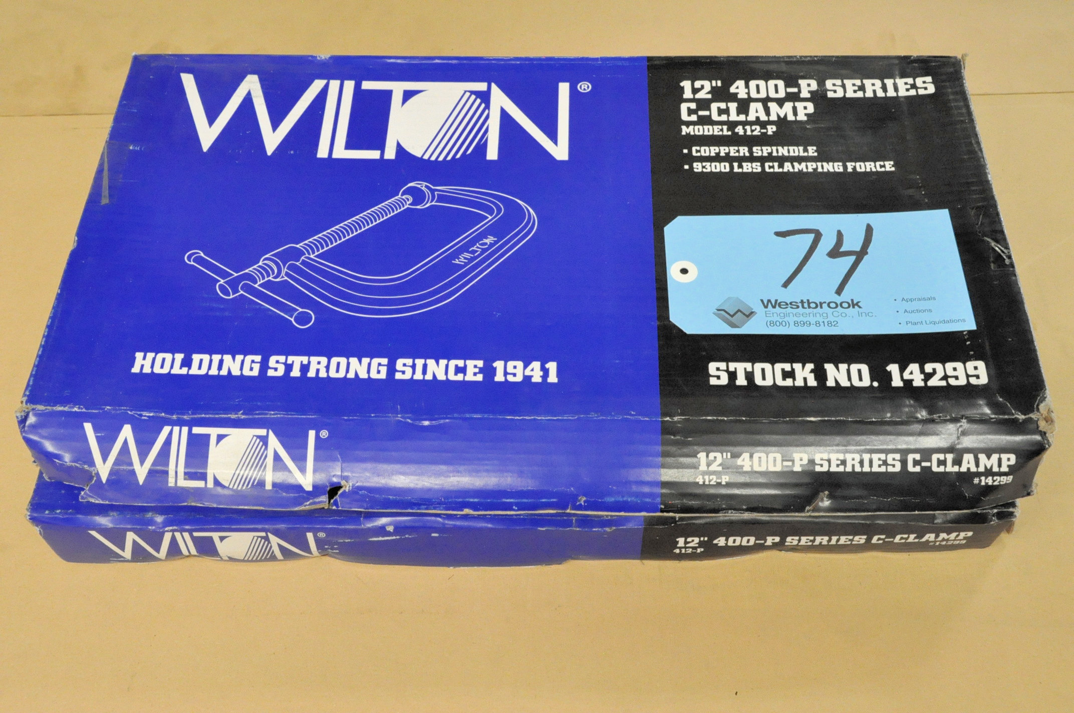"Lot-(2) Wilton No. 412-P, 12"" C-Clamps, (Packaged)"