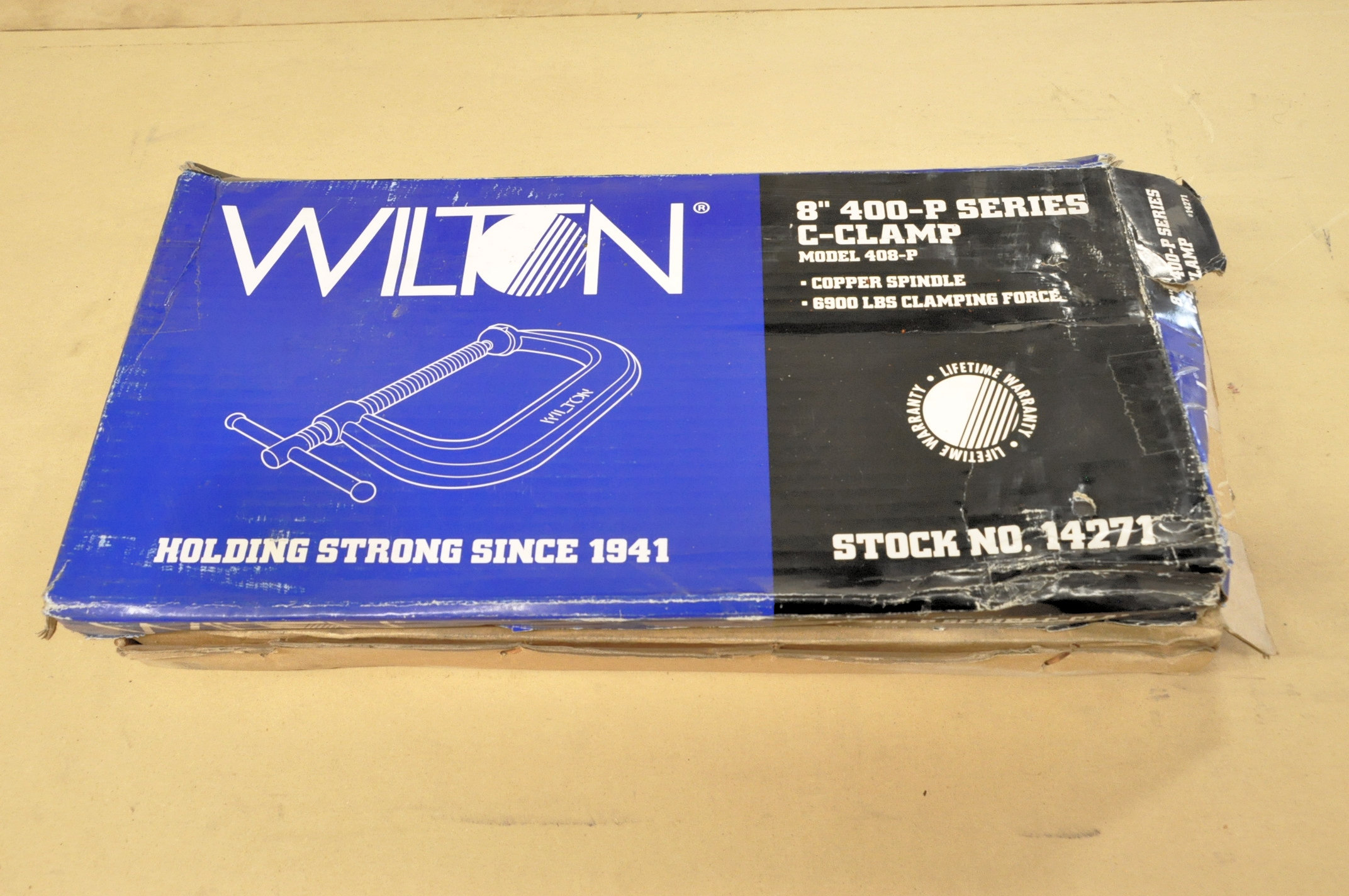 """Lot-(1) Wilton No. 408 and (1) No. 408-P, 8"""" C-Clamps, (Packaged)"""