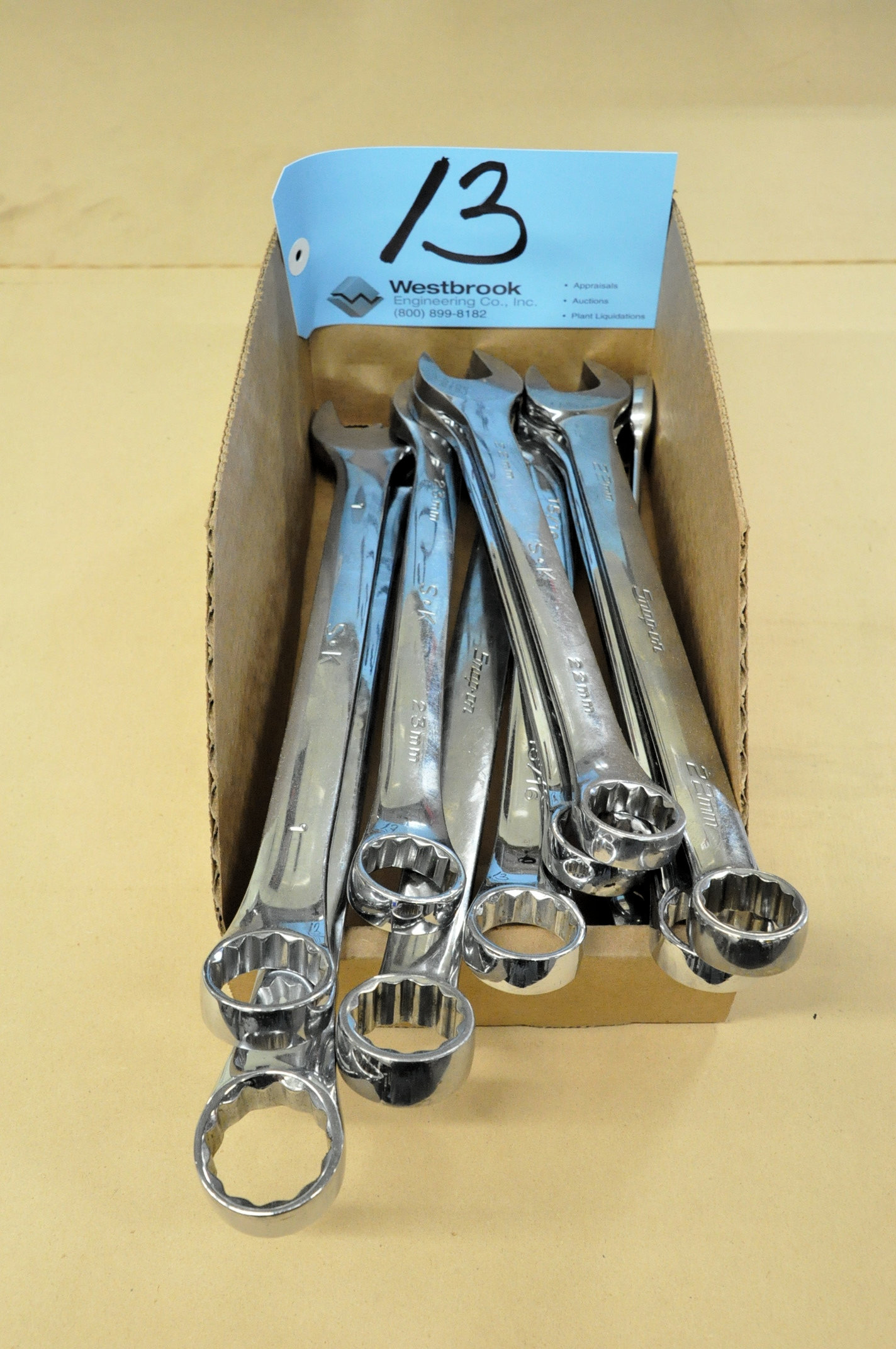 Lot-Mechanics Wrenches in (1) Box