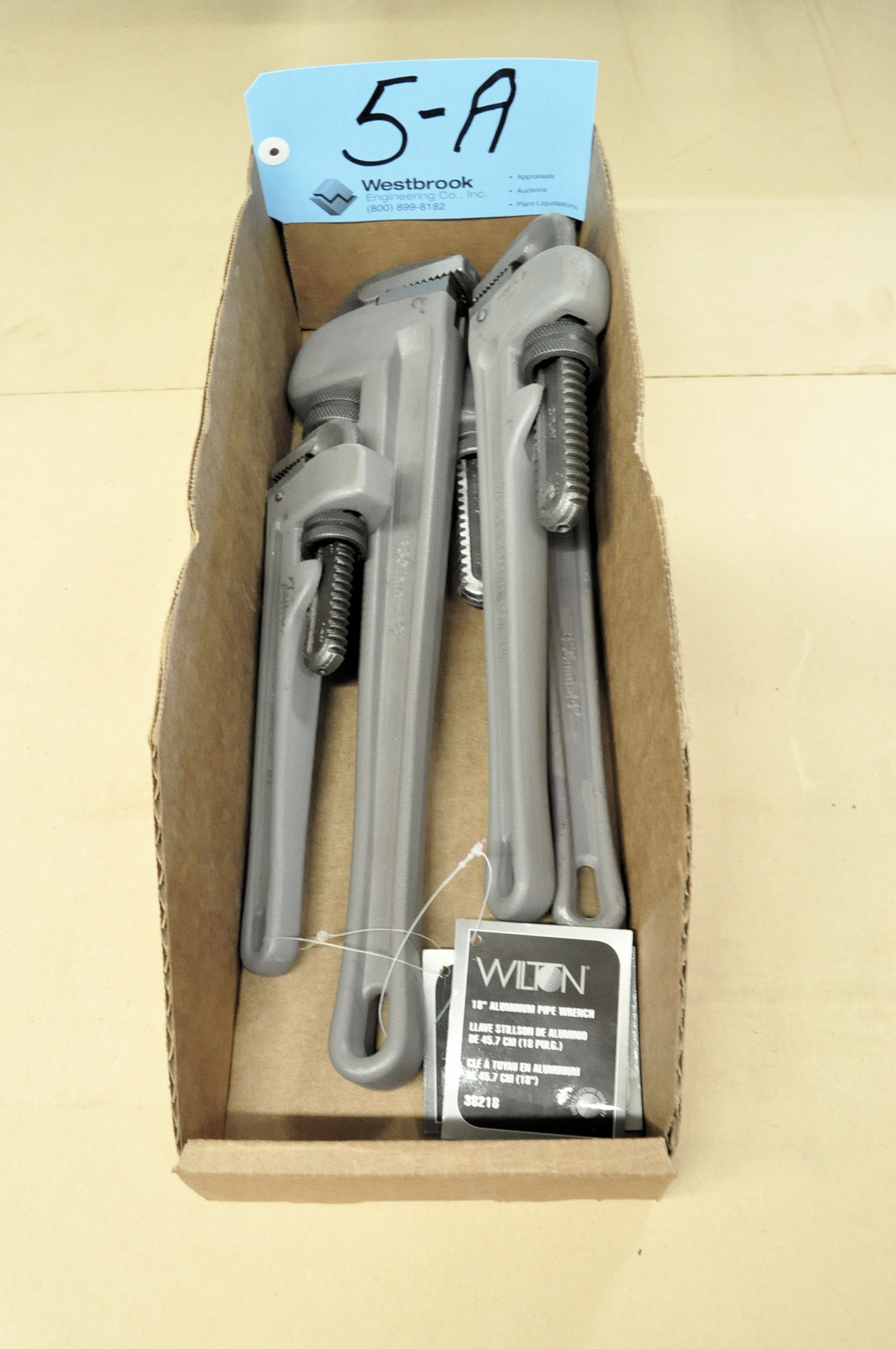 "Lot-(1) 18"", (2) 14"" and (1) 10"" Wilton Pipe Wrenches in (1) Box"