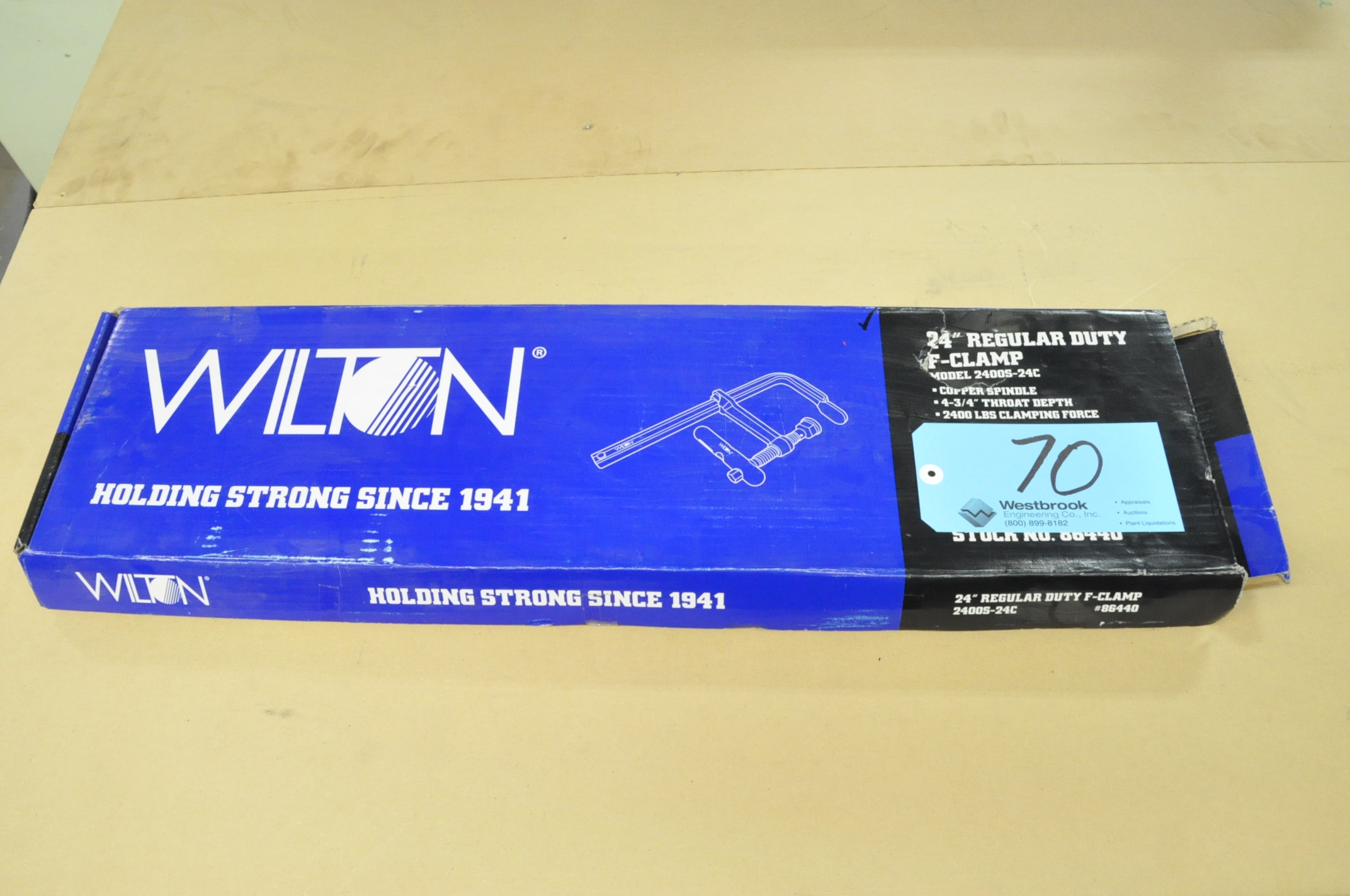 """Wilton No. 2400S-24C, 24"""" F-Clamp, (Packaged)"""