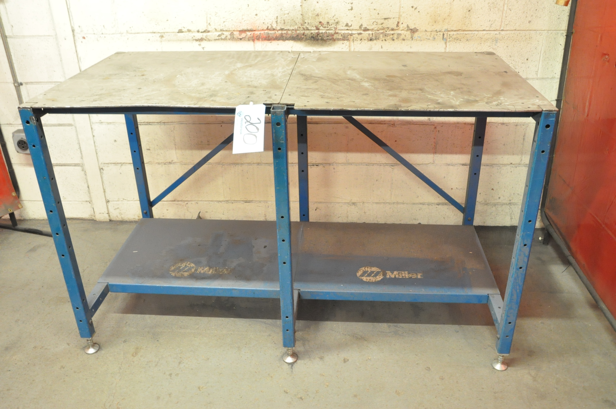 "29"" x 58"" Stationary Steel Top Welding Table"