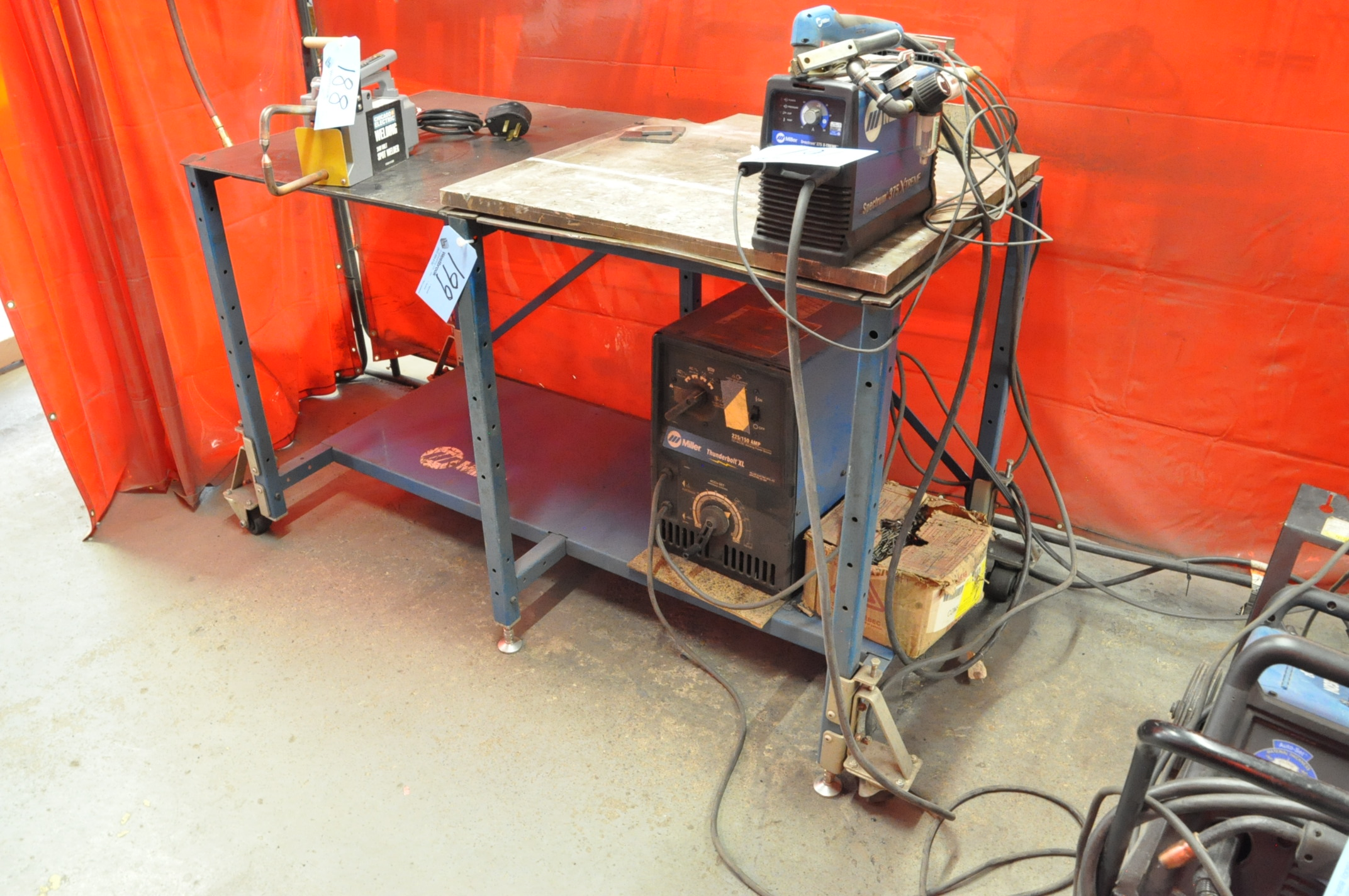 "29"" x 58"" Portable Steel Top Welding Table Only (Contents Not Included)"