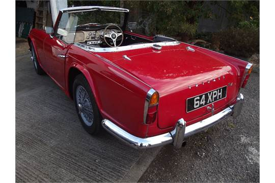 A 1962 Triumph Tr4 Registration Number 64 Xph Chassis Number Ct