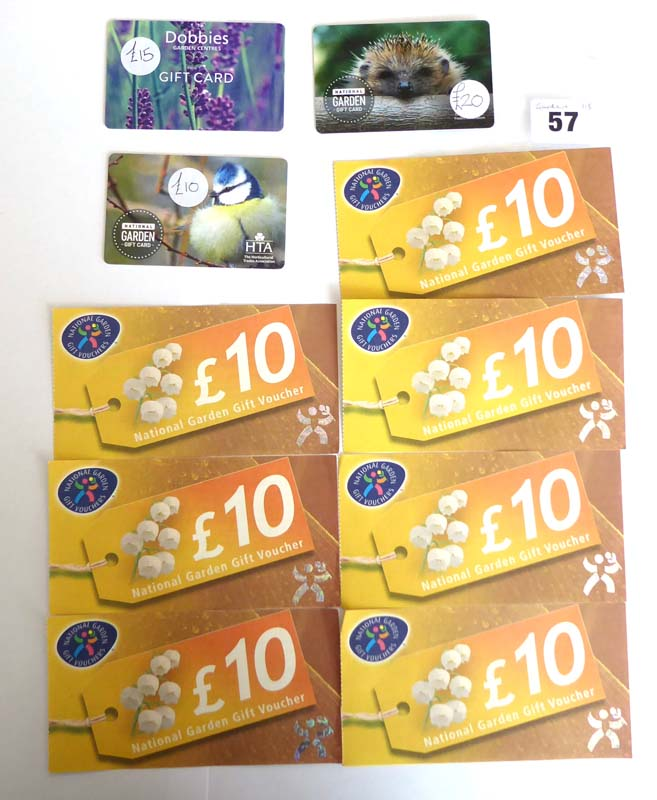 Lot 57 - National Garden (x10) - Total face value £115