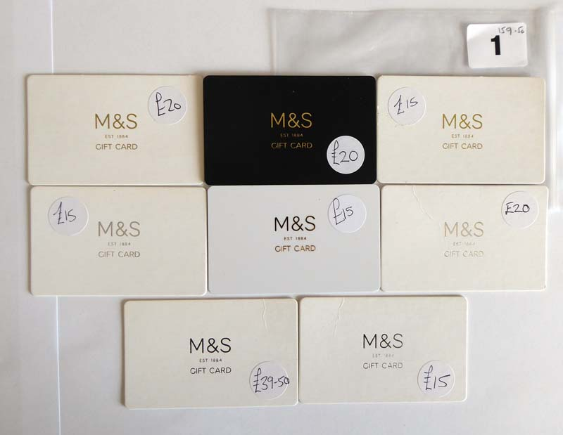 Lot 1 - Marks & Spencer (x8) - Total face value £159.5