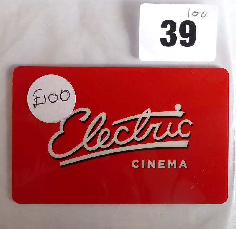 Lot 39 - Electric Cinema (x1) - Total face value £100