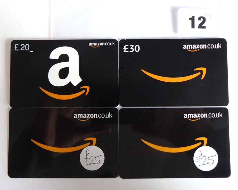 Lot 12 - Amazon (x4) - Total face value £100
