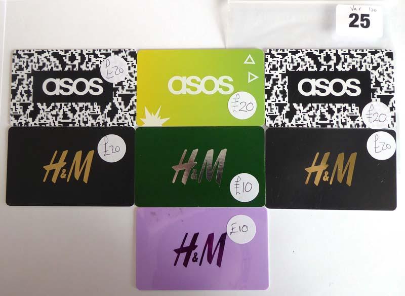H & M (x7) - Total face value £120
