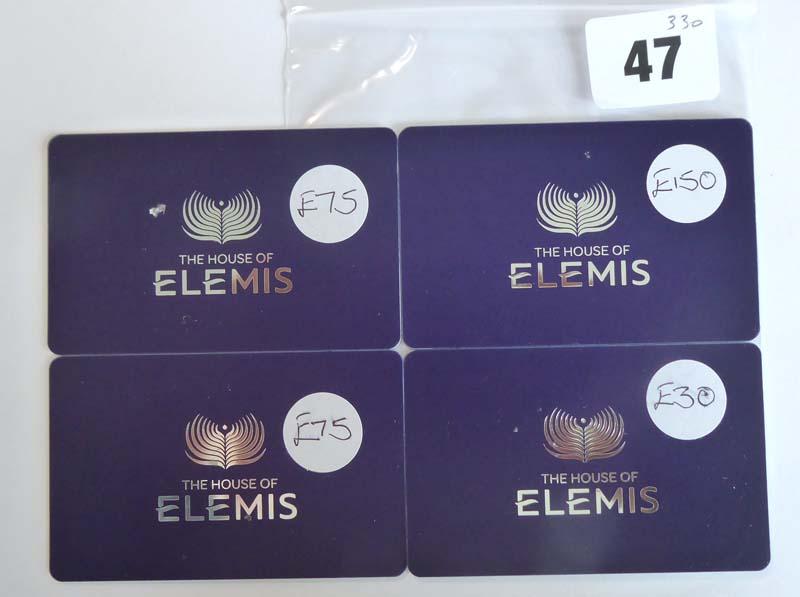 Lot 47 - Elemis (x4) - Total face value £330