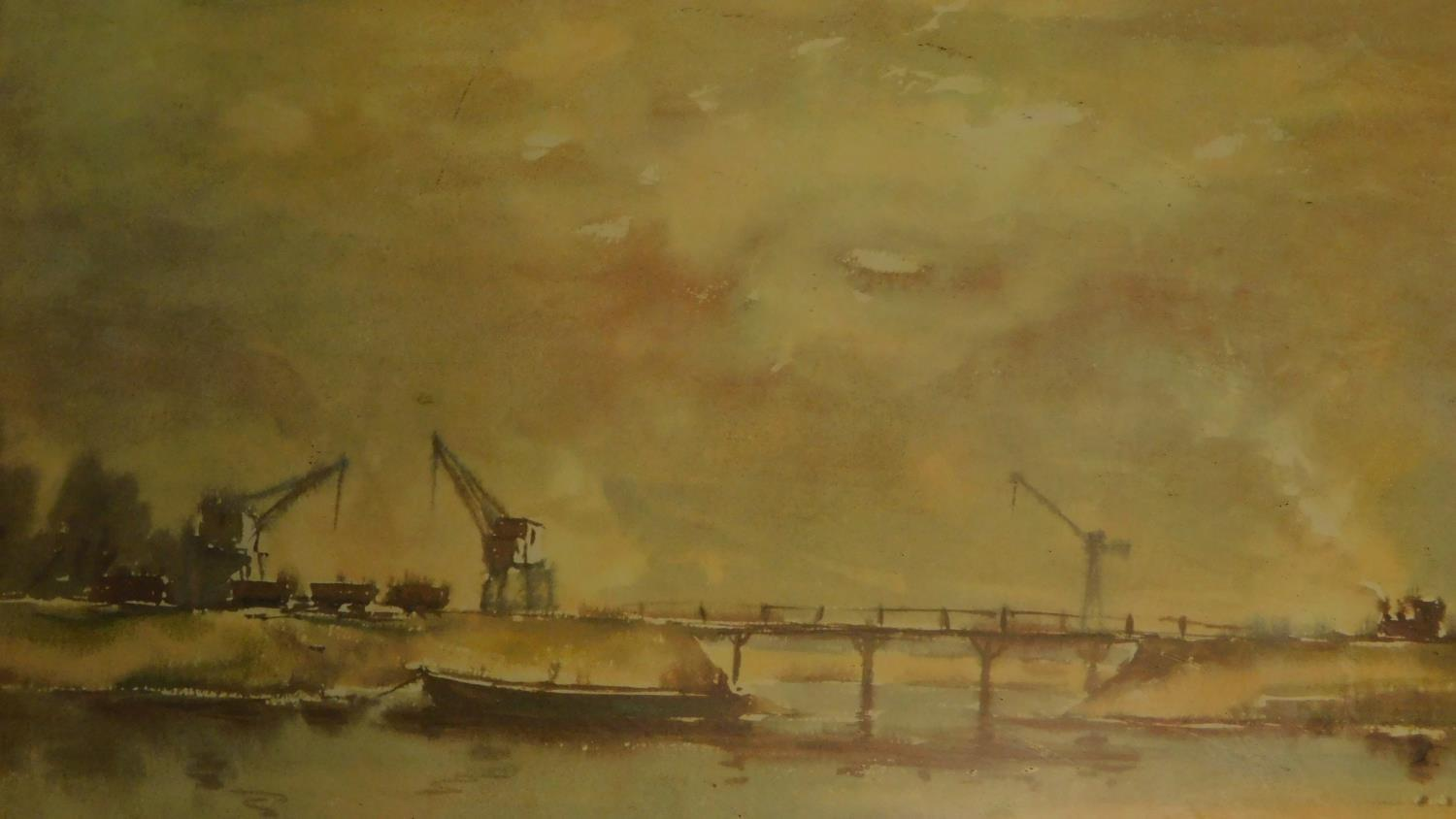 A pair of signed 19th century framed and glazed etchings, a set of three prints and an oil on board, - Image 7 of 10