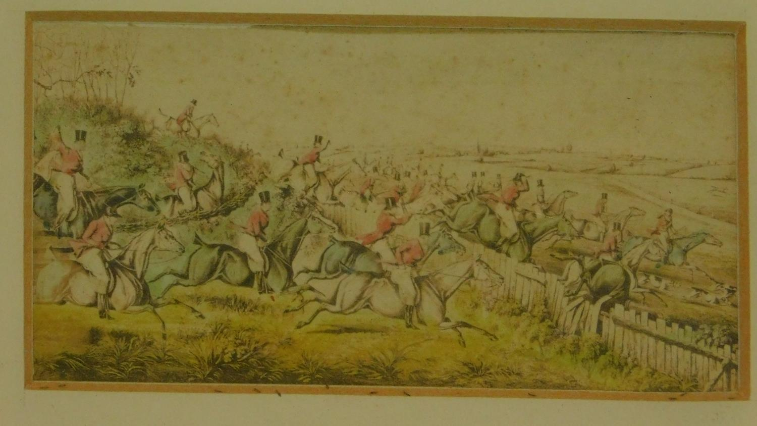 A pair of 19th century hunting prints. 25x20cm (largest) - Image 3 of 5