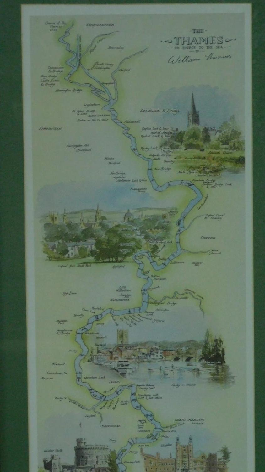 A miscellaneous collection of five framed and glazed maps and a coaching print. 106x35cm - Image 7 of 8