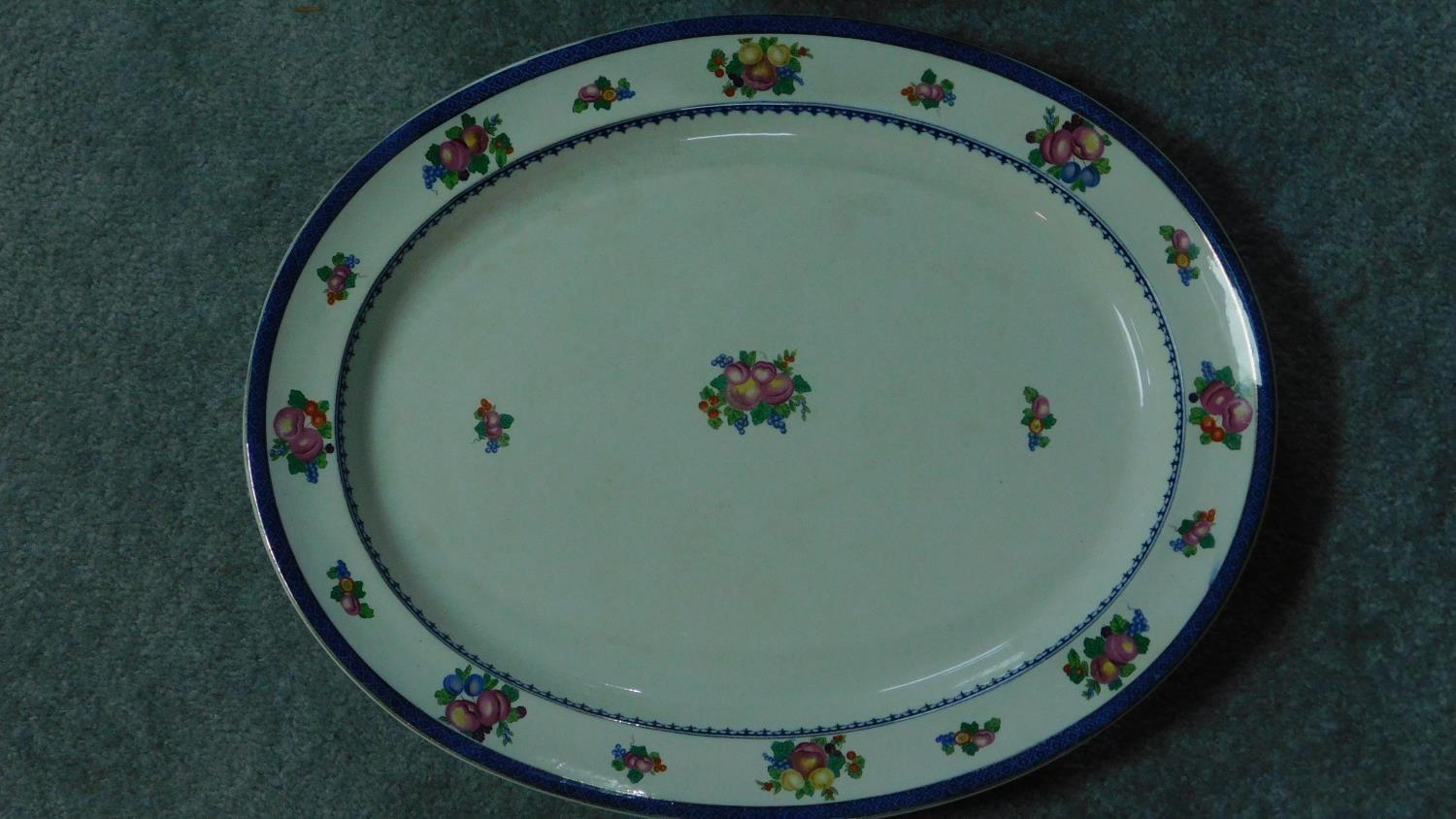 Various 19th century and later serving plates. 51x41cm (largest) - Image 5 of 11