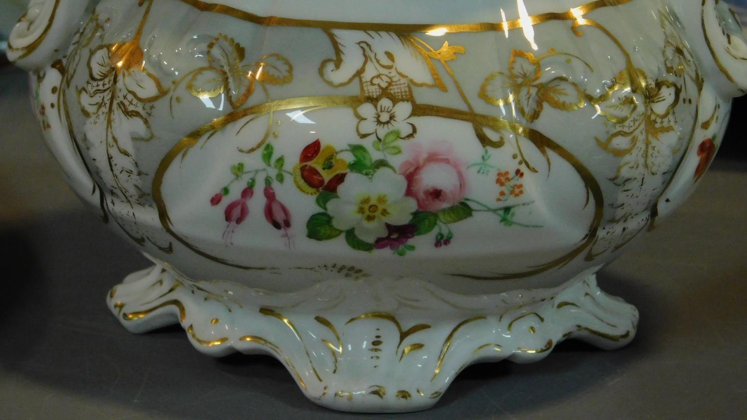 A 19th century Staffordshire ironstone tureen and cover (associated ladle) and various other - Image 16 of 18