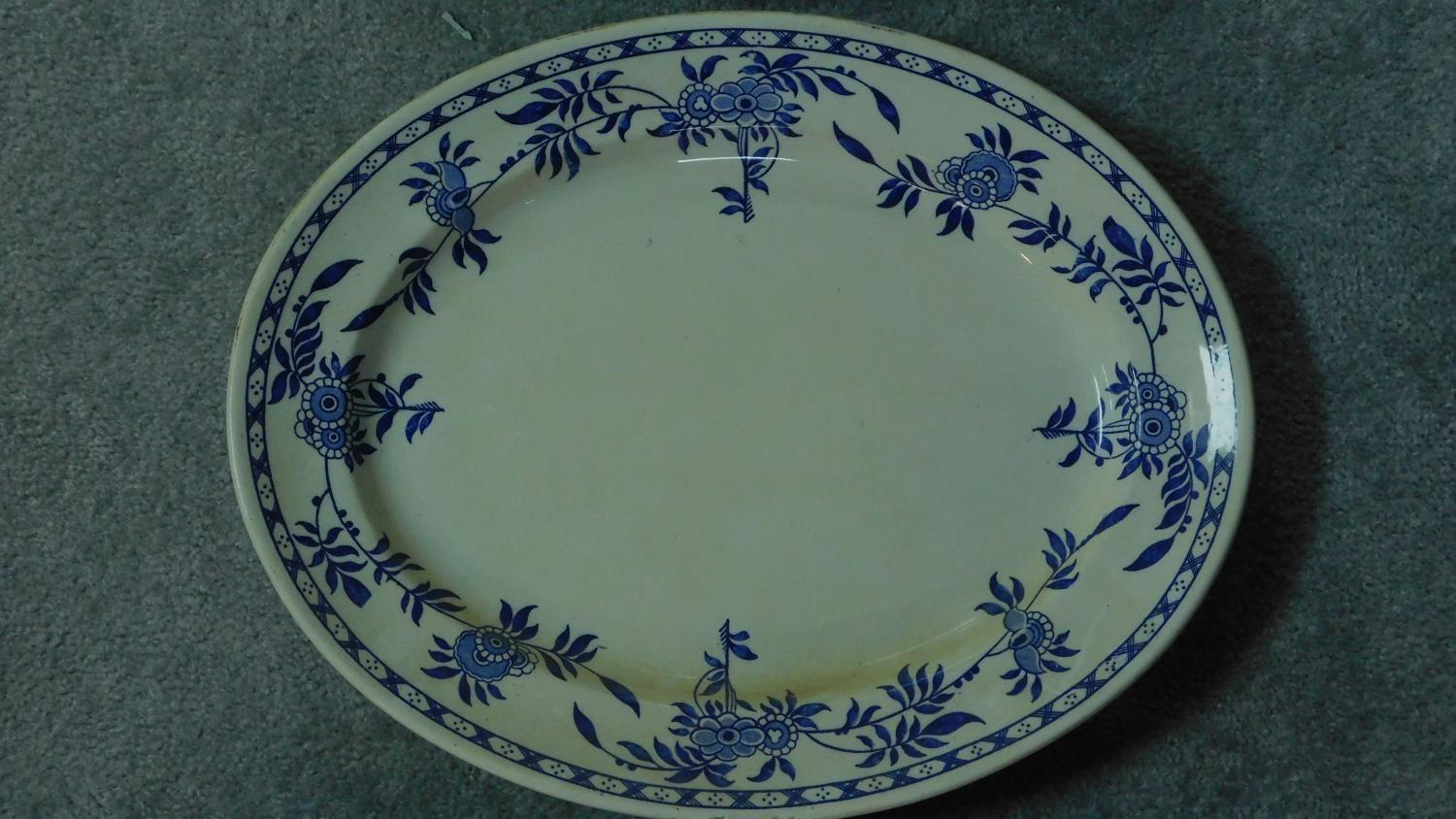 Various 19th century and later serving plates. 51x41cm (largest) - Image 4 of 11