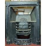 A 19th century cast iron fire insert. H.96 W.78cm