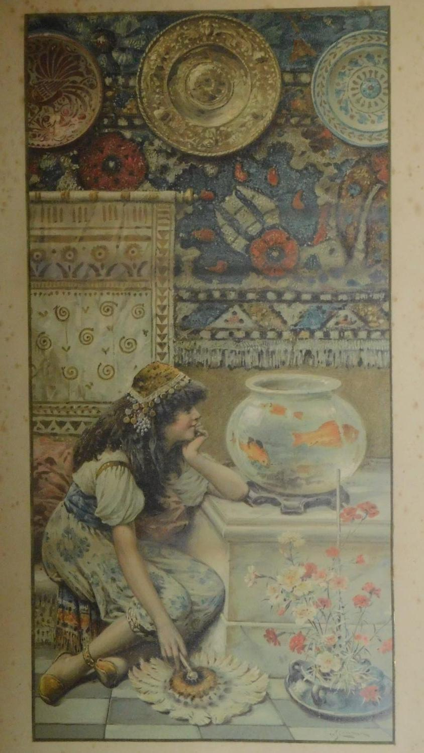 """A pair of late 19th century framed and glazed prints """"Goldfish"""" and """"Oriental Colours"""" and a 19th - Image 2 of 13"""