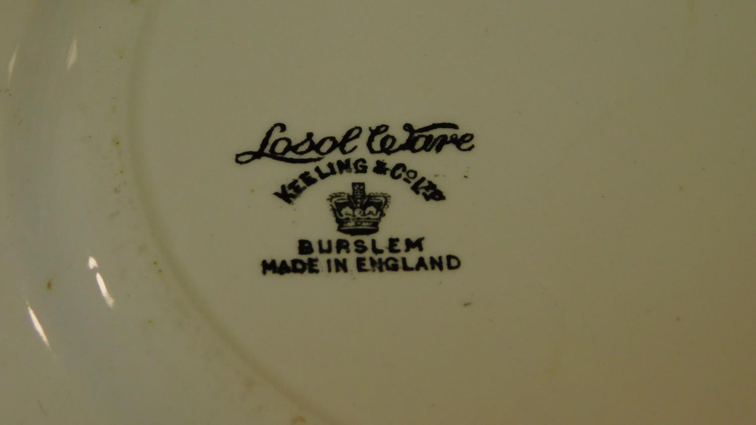A Loselware part dinner service, dinner plates, side plates, soup bowls, tureens etc. - Image 6 of 6