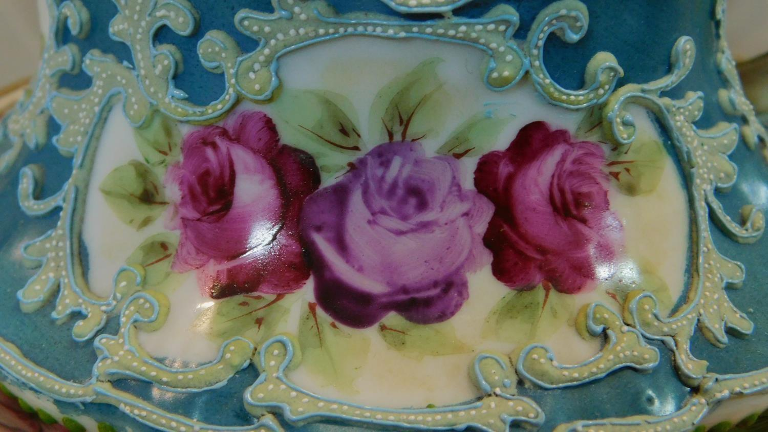 A miscellaneous collection of Victorian and later porcelain, vase, cups, saucers etc. - Image 3 of 14