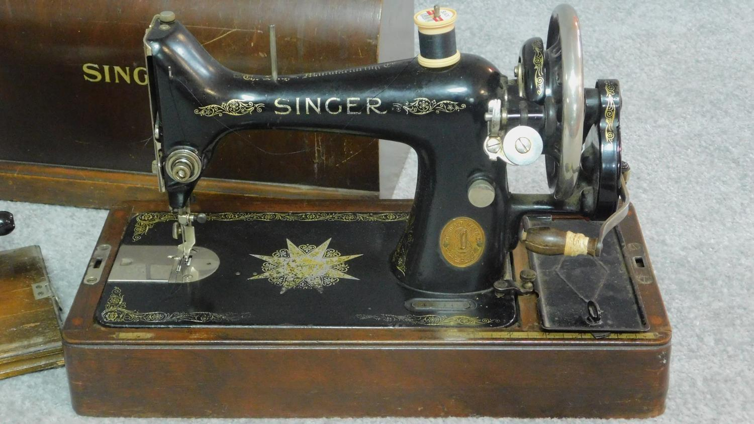 Three miscellaneous sewing machines. - Image 2 of 7