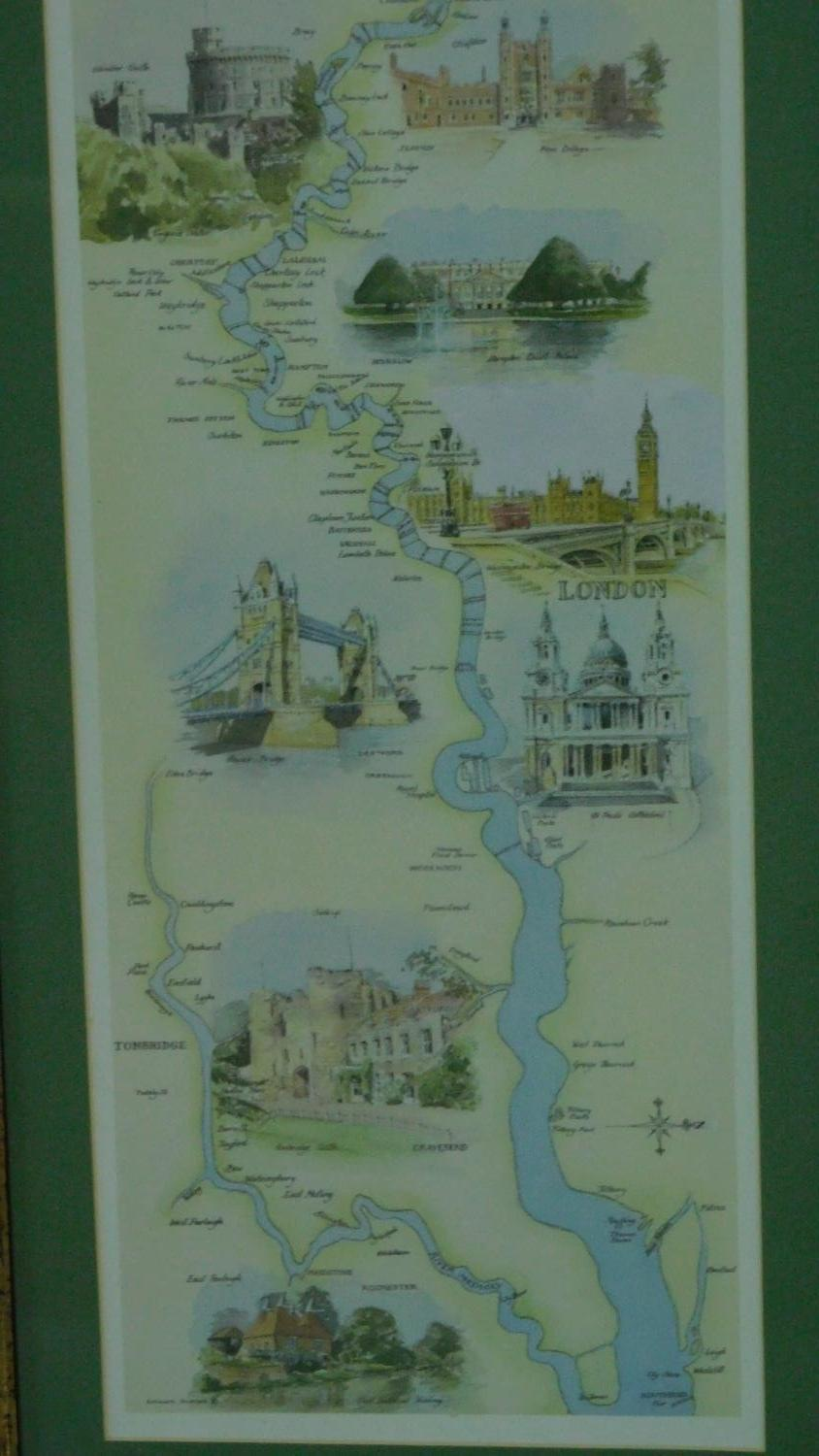 A miscellaneous collection of five framed and glazed maps and a coaching print. 106x35cm - Image 8 of 8