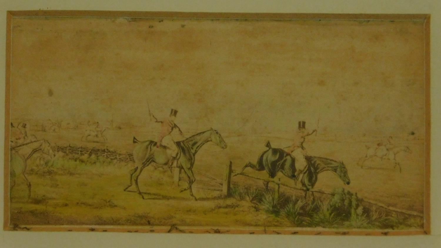 A pair of 19th century hunting prints. 25x20cm (largest) - Image 2 of 5