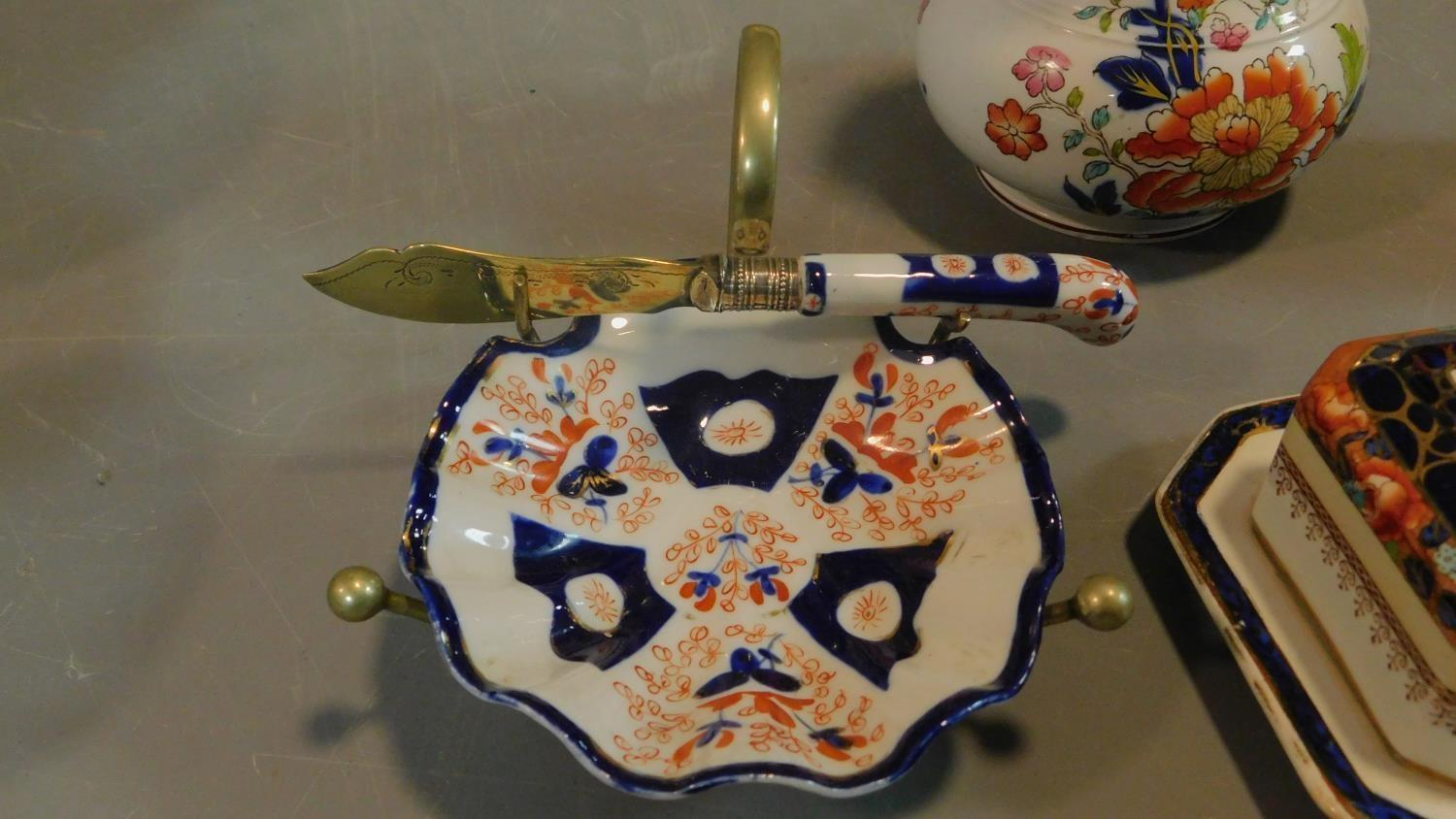 A collection of Art Deco Tuscan Decoro pottery baskets and other ceramic items. - Image 5 of 8
