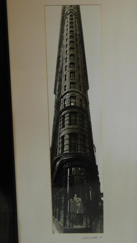 Three framed photographs, Jamie Cullum, Damon Gough and the Flatiron building. 49x57cm (largest) - Image 6 of 7