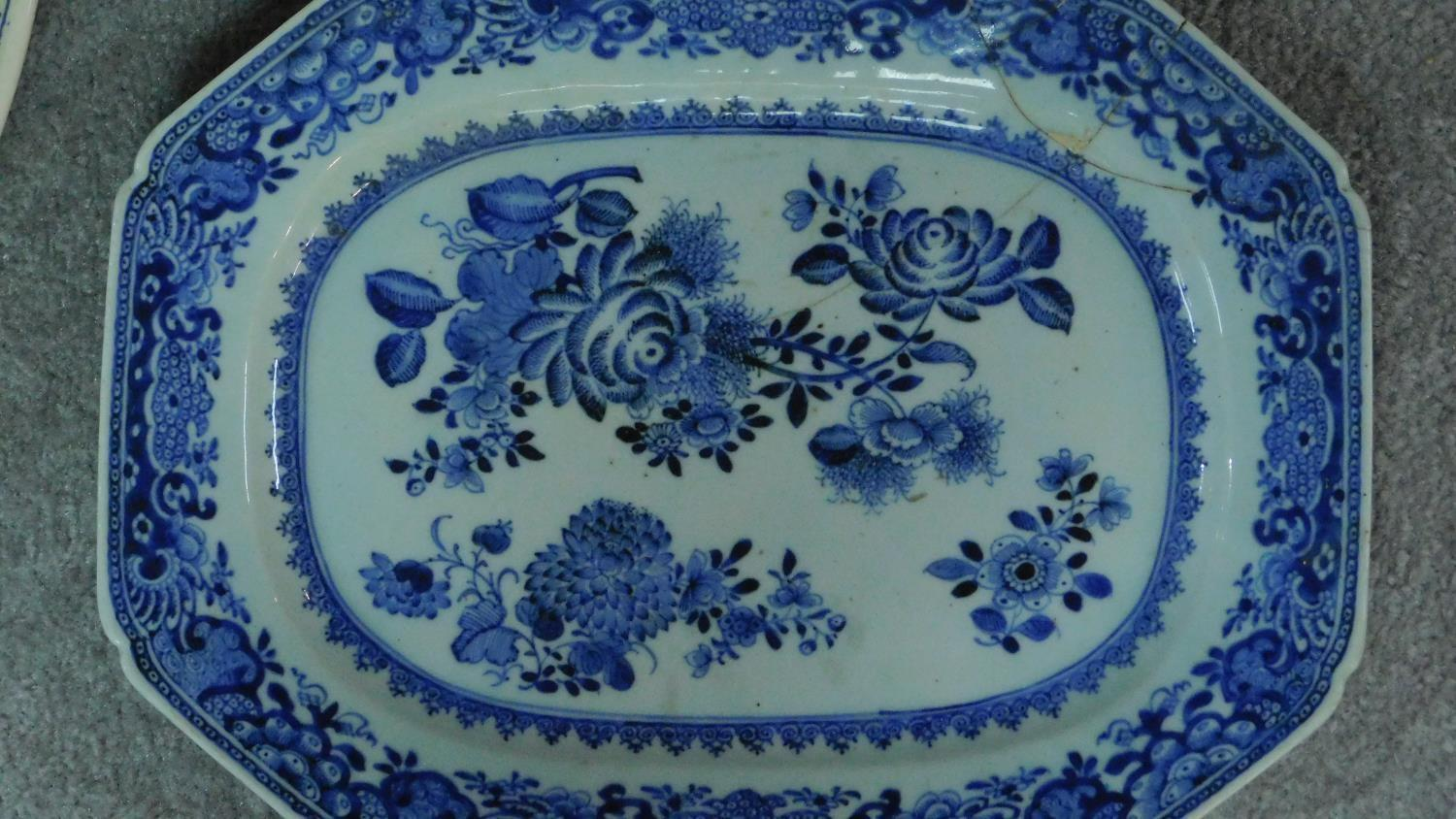Various 19th century and later serving plates. 51x41cm (largest) - Image 3 of 11