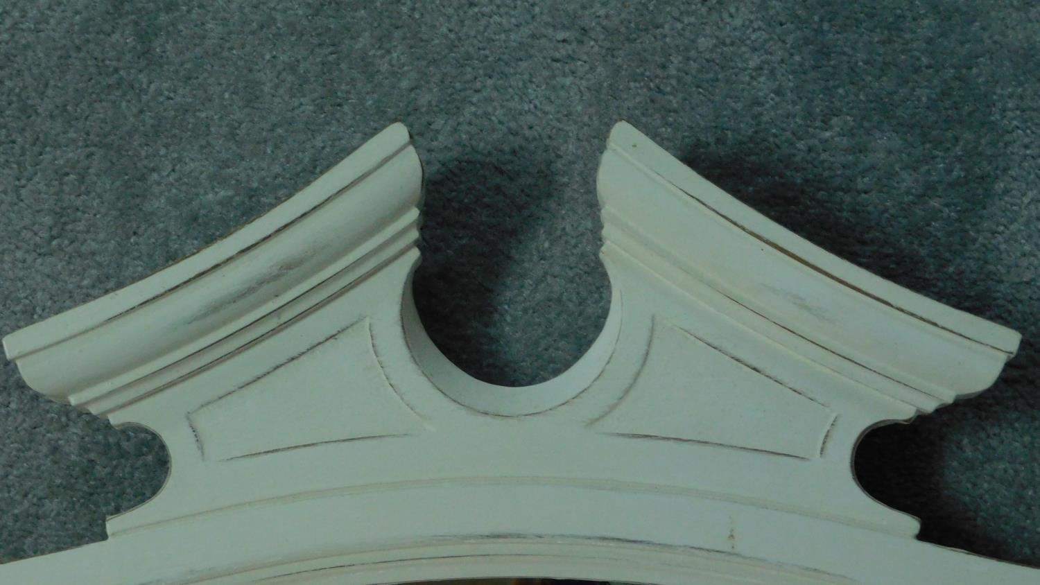 A white painted overmantel mirror. 91x72cm - Image 3 of 5