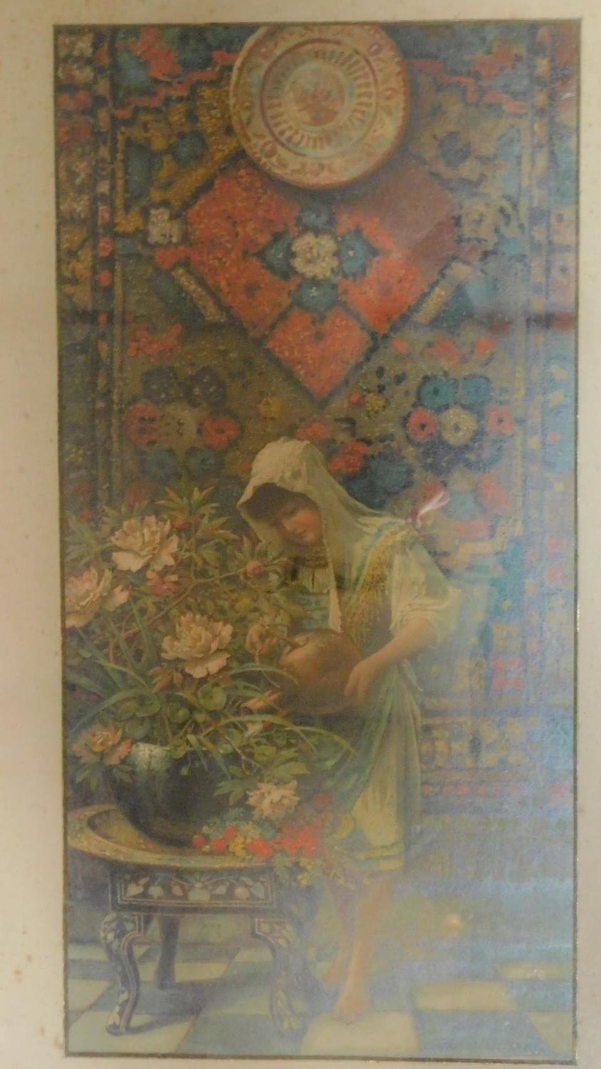 """A pair of late 19th century framed and glazed prints """"Goldfish"""" and """"Oriental Colours"""" and a 19th - Image 4 of 13"""