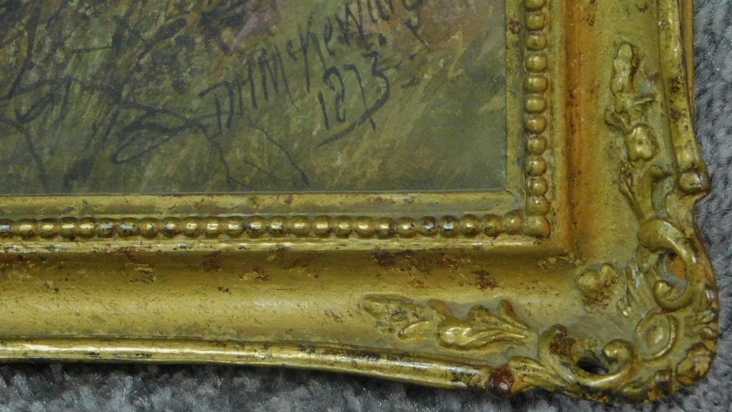 A 19th century framed and glazed watercolour, Dartmoor scene, signed D. H. McKewan, 1873, label - Image 3 of 8