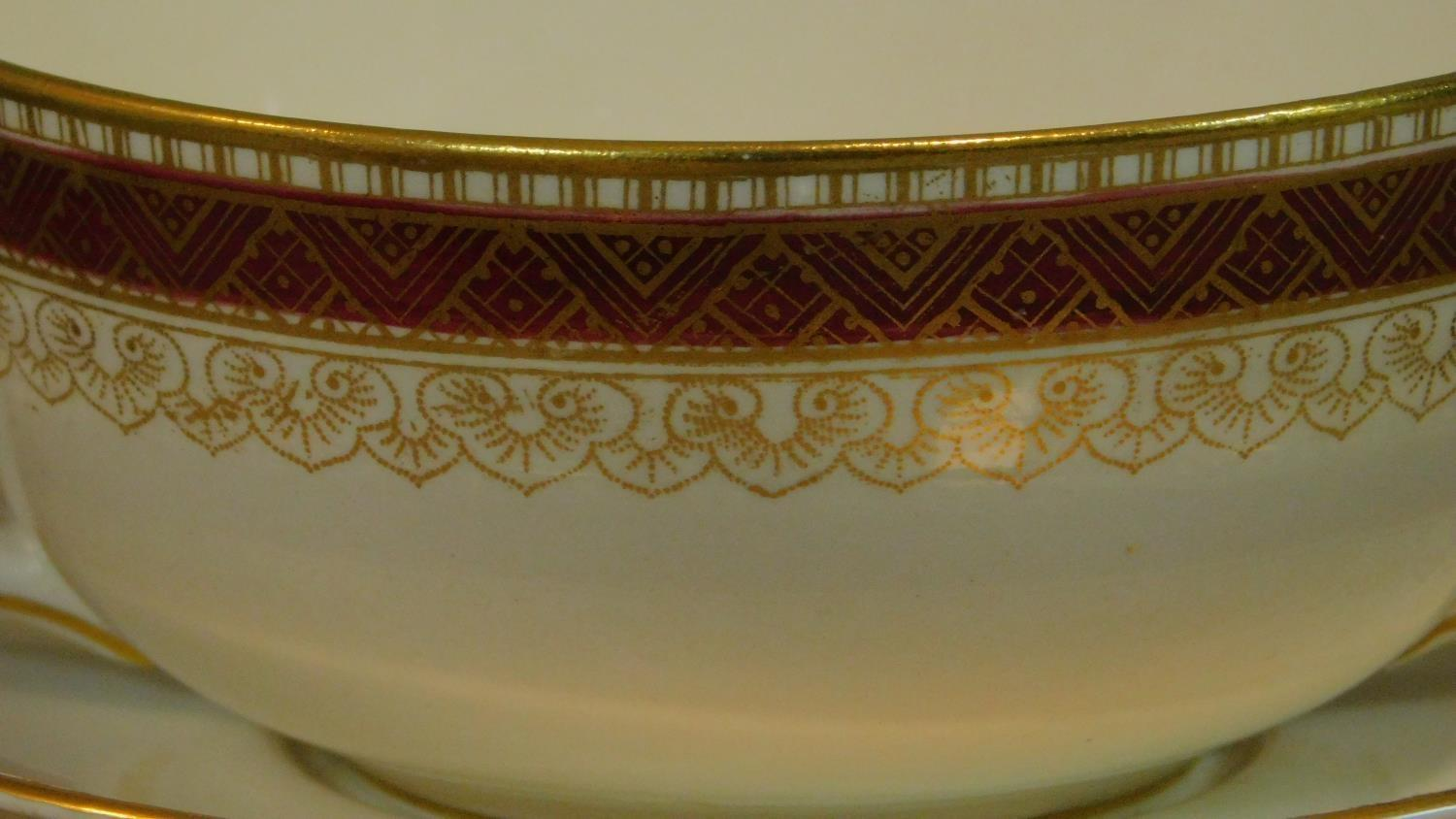 A Loselware part dinner service, dinner plates, side plates, soup bowls, tureens etc. - Image 5 of 6