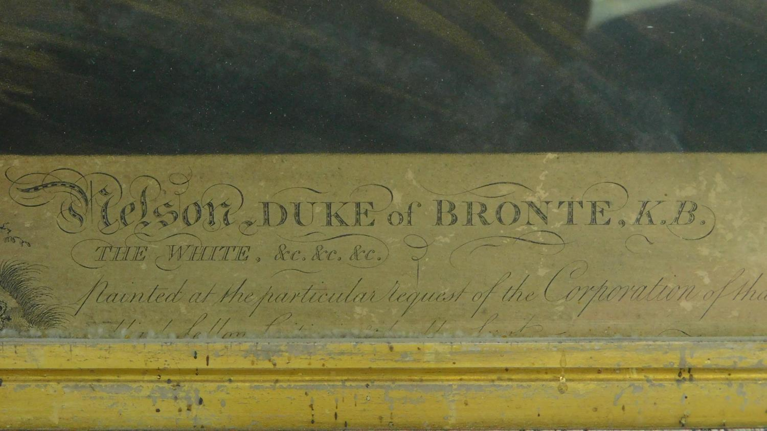 A 19th century maple framed and glazed engraving, Lord Viscount Nelson, Duke of Bronte, Engraved - Image 4 of 10