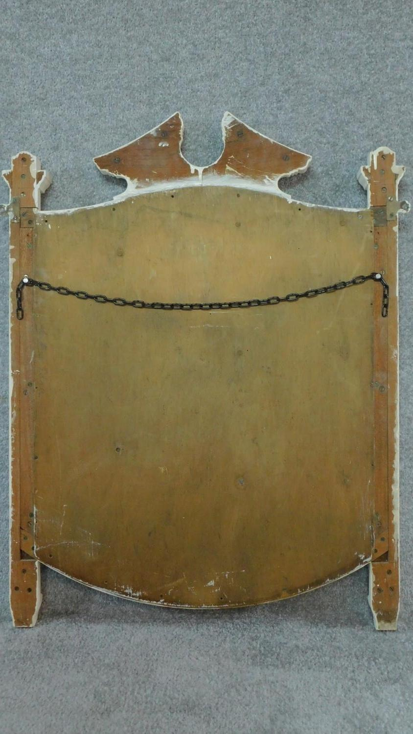 A white painted overmantel mirror. 91x72cm - Image 5 of 5