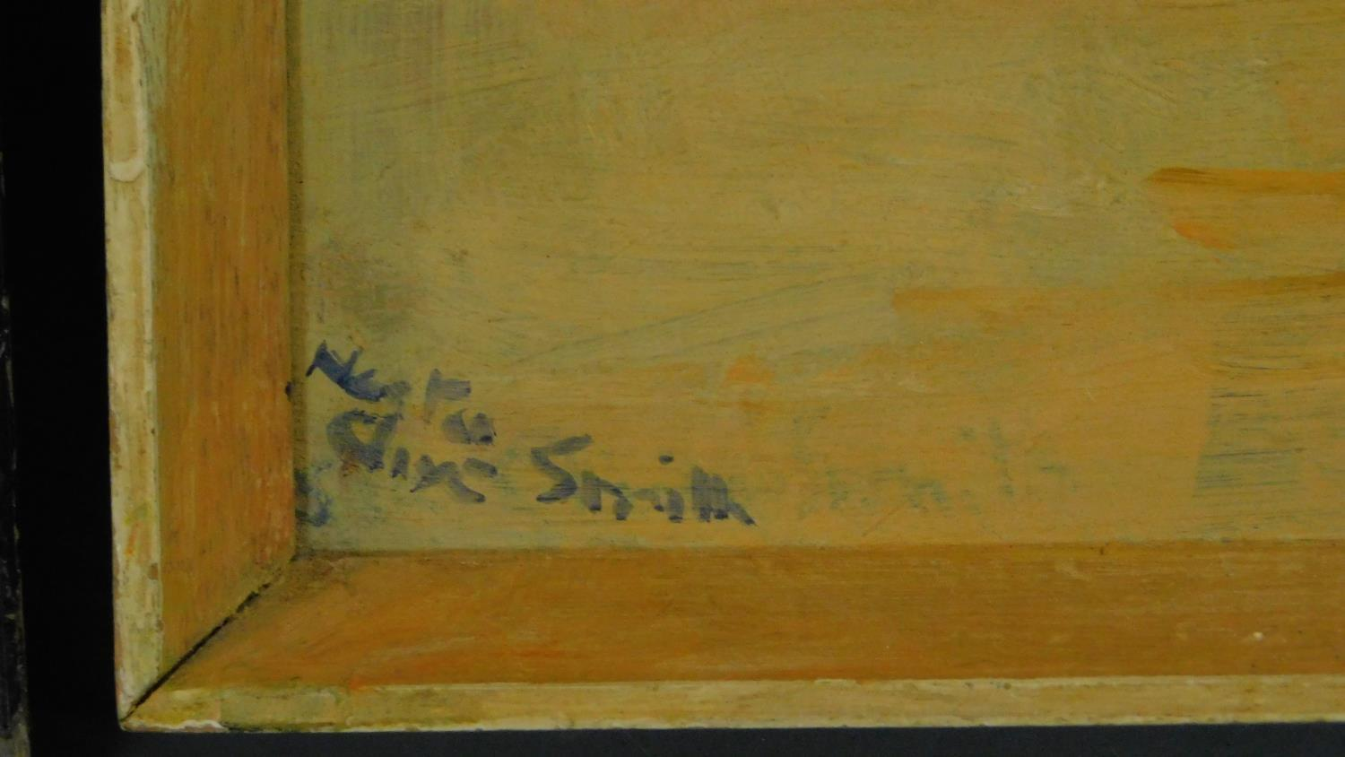 A pair of signed 19th century framed and glazed etchings, a set of three prints and an oil on board, - Image 3 of 10